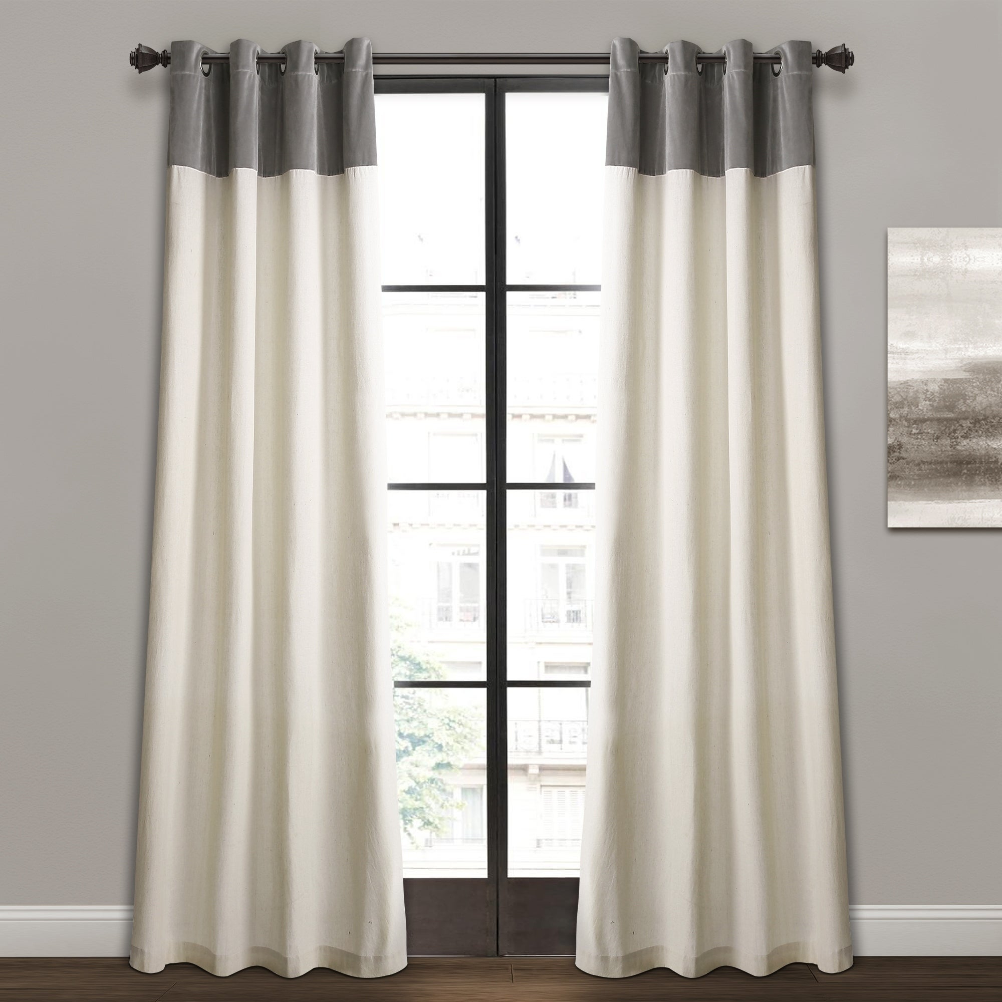 Details About Lush Decor Milo Linen Window Curtain Panel Pair For Lydia Ruffle Window Curtain Panel Pairs (View 12 of 20)