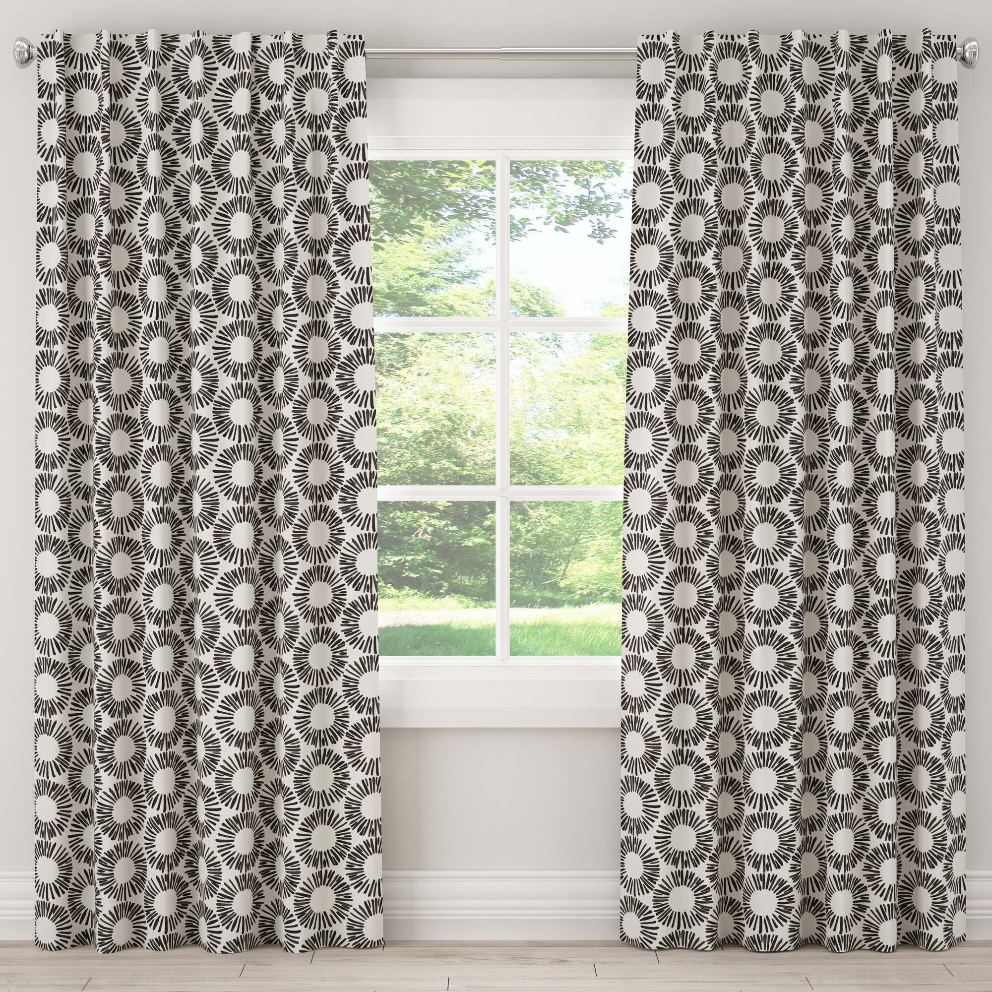 Details About Paraiso Unlined Geometric Room Darkening Rod Pocket Single Curtain Panel Within Nantahala Rod Pocket Room Darkening Patio Door Single Curtain Panels (View 10 of 20)