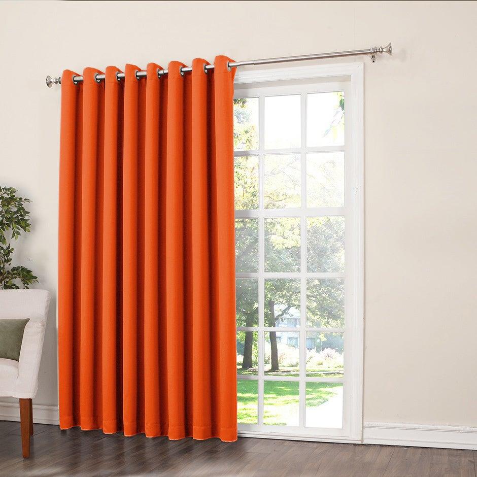 Details About Porch & Den Nantahala Rod Pocket Room Darkening Patio Door Single Curtain Panel Inside Single Curtain Panels (View 20 of 31)