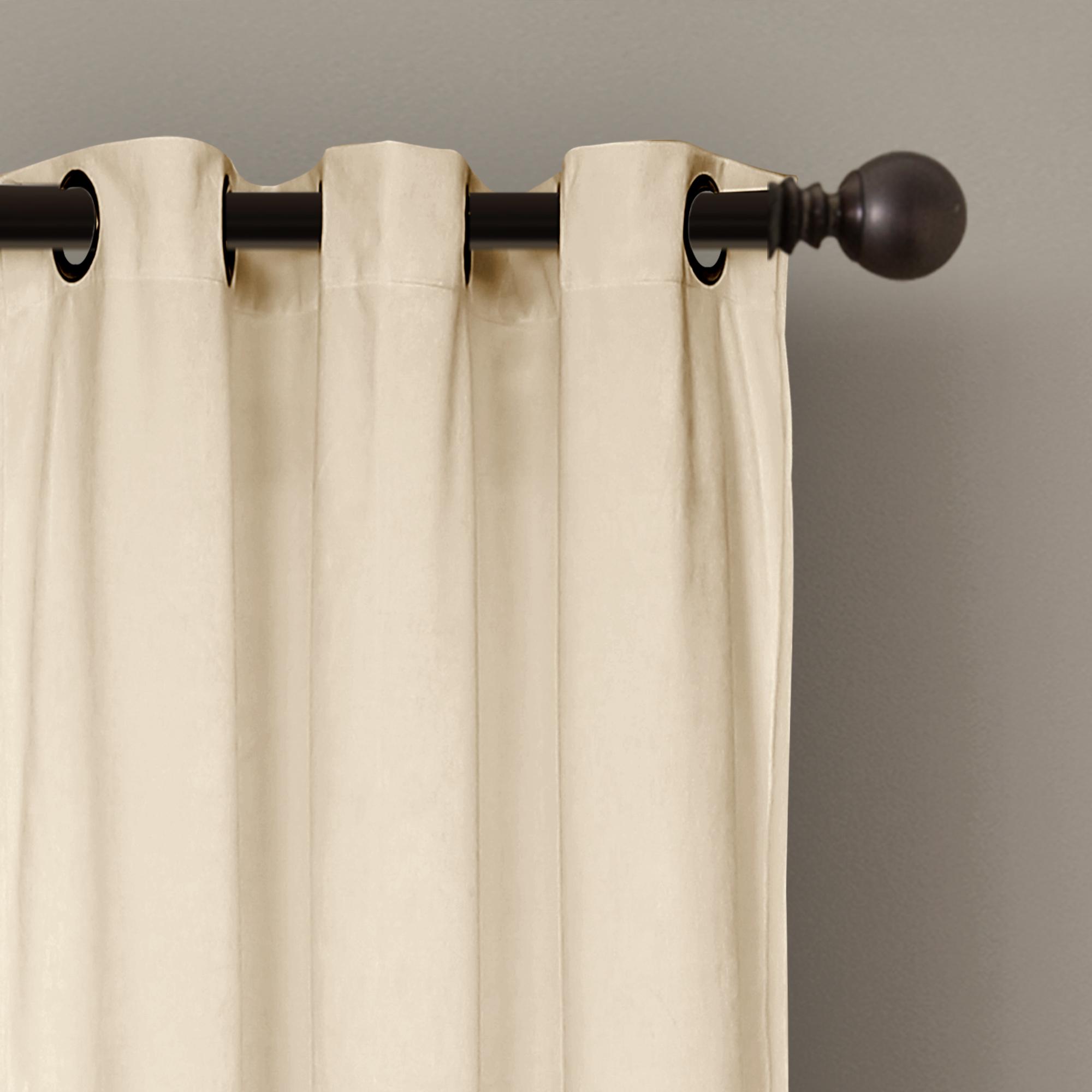 """Details About Prima Velvet Color Block Room Darkening Window Curtain Panel  Pair, 84"""" X 38"""" regarding Mid Century Geo Room Darkening Window Curtain Panel Pairs (Image 4 of 20)"""