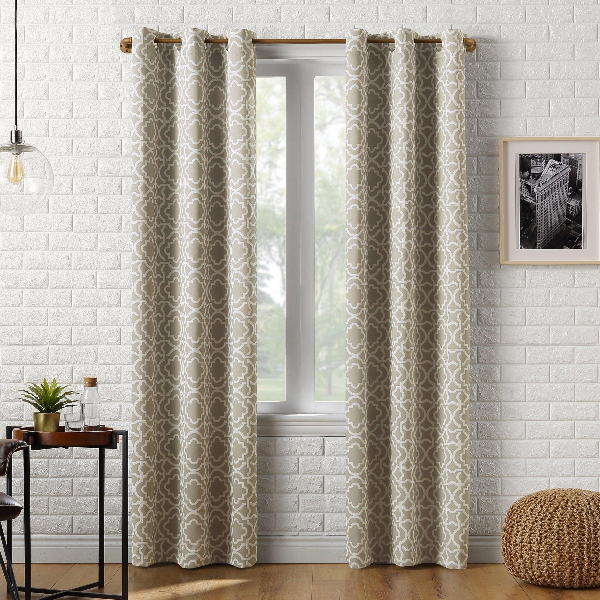 Details About Sun Zero Barnett Trellis Blackout Grommet Curtain Panel Within Riley Kids Bedroom Blackout Grommet Curtain Panels (View 18 of 20)