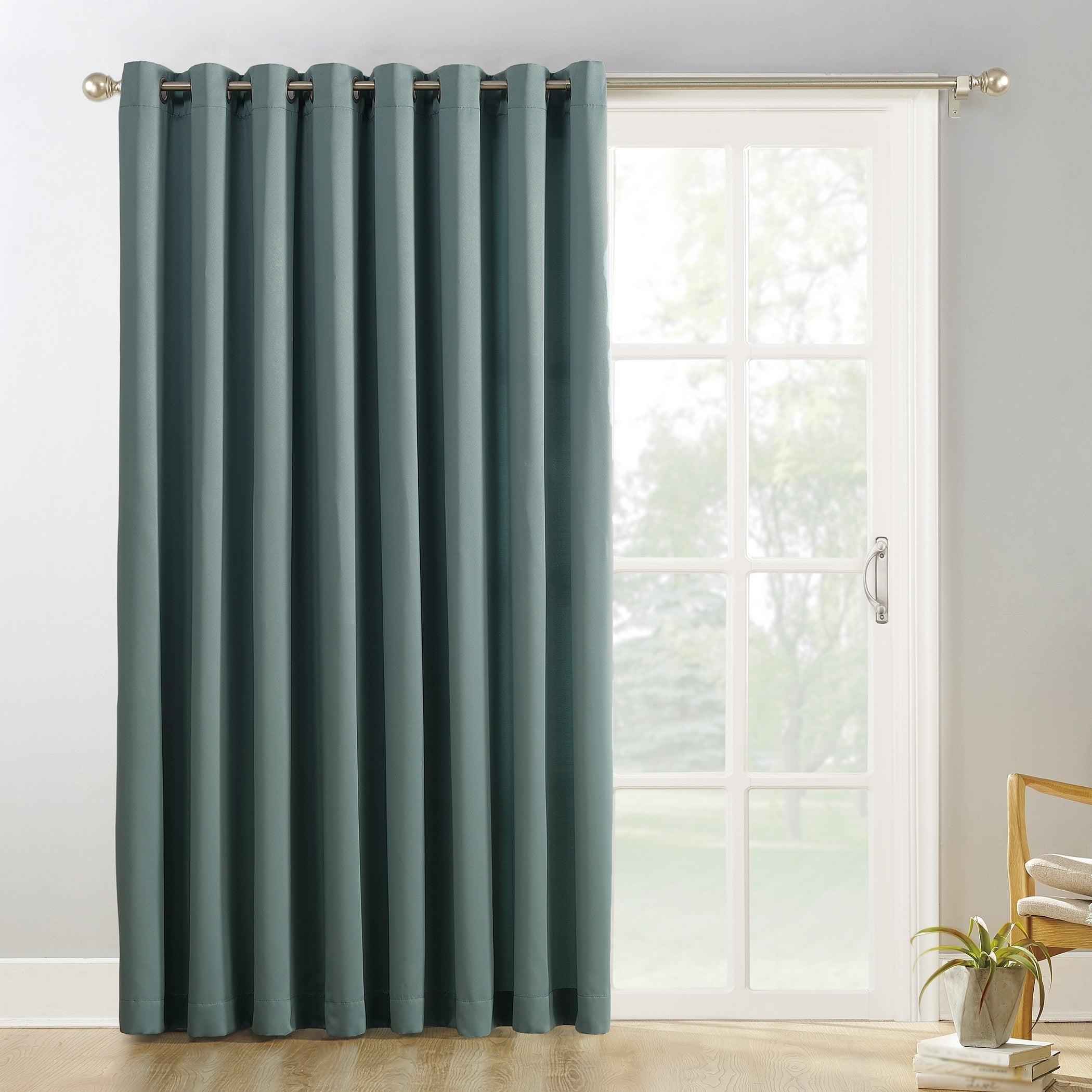 Details About Sun Zero Hayden Grommet Blackout Patio Door Window Curtain In Grommet Blackout Patio Door Window Curtain Panels (View 17 of 20)