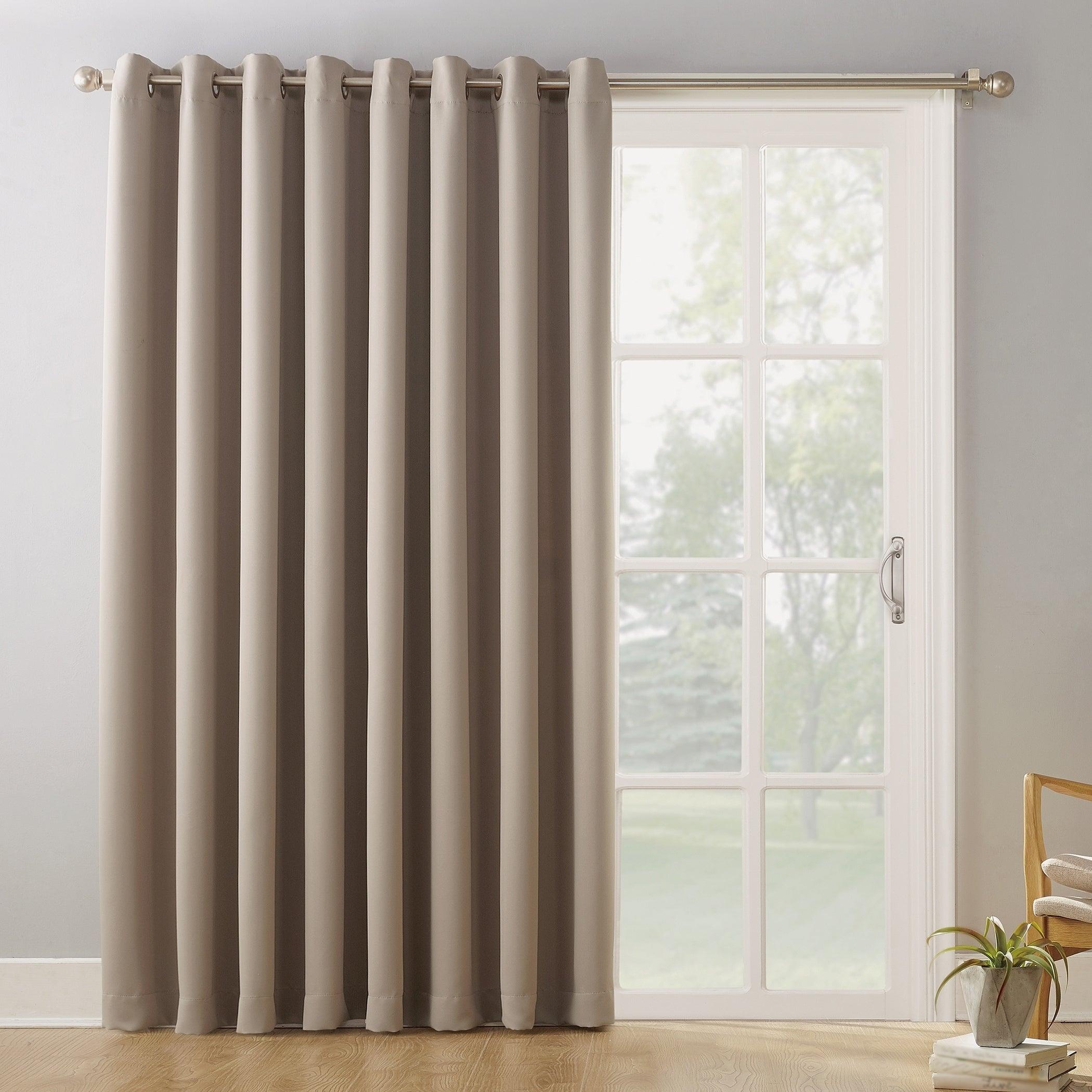 Details About Sun Zero Hayden Grommet Blackout Patio Door Window Curtain With Hayden Grommet Blackout Single Curtain Panels (View 16 of 20)
