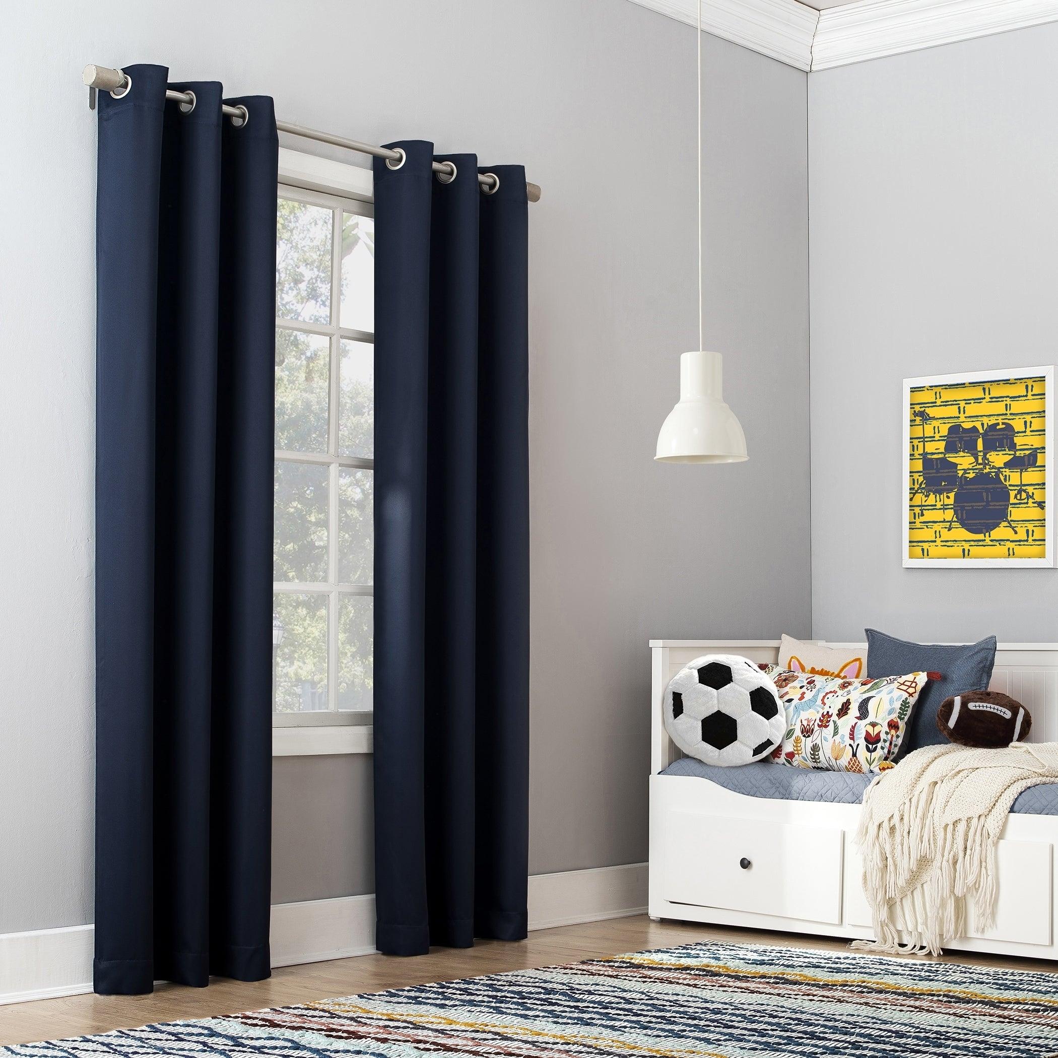 Details About Sun Zero Riley Kids Bedroom Blackout Grommet Curtain Panel For Blackout Grommet Curtain Panels (View 17 of 20)