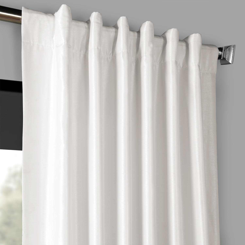 Details About Vintage Textured Faux Dupioni Silk Blackout C Pertaining To Storm Grey Vintage Faux Textured Dupioni Single Silk Curtain Panels (View 2 of 30)