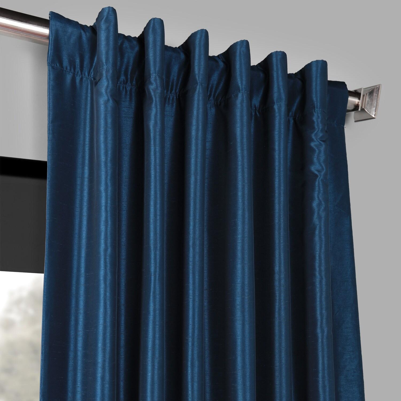 Details About Vintage Textured Faux Dupioni Silk Blackout C Regarding Storm Grey Vintage Faux Textured Dupioni Single Silk Curtain Panels (View 3 of 30)