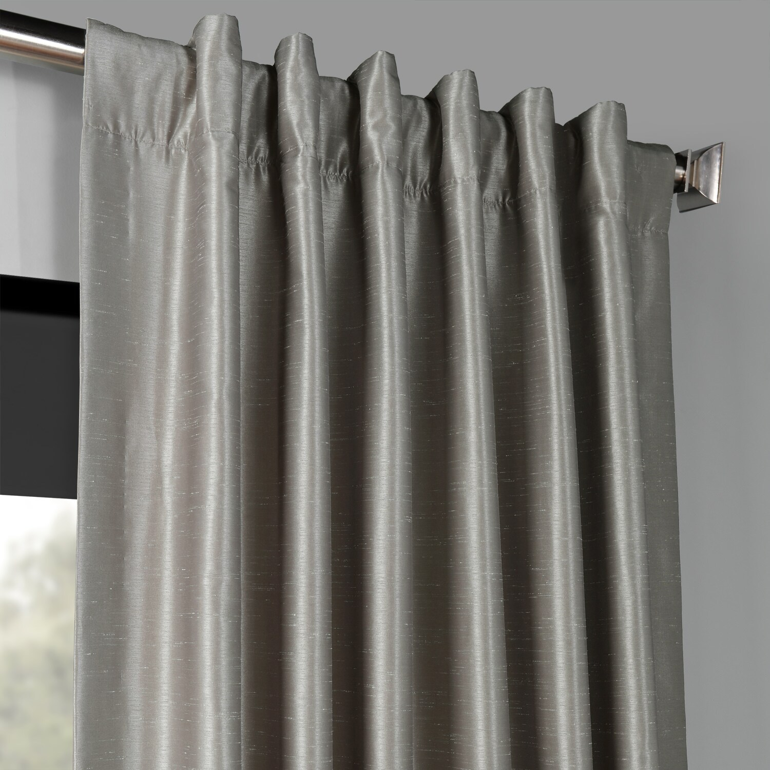Details About Vintage Textured Faux Dupioni Silk Blackout C With Regard To Vintage Faux Textured Dupioni Silk Curtain Panels (View 24 of 30)