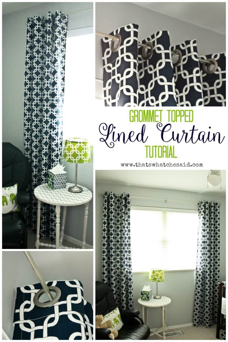 Diy Lined Grommet Top Curtain Panels – That's What {che} Said In Lined Grommet Curtain Panels (View 12 of 20)