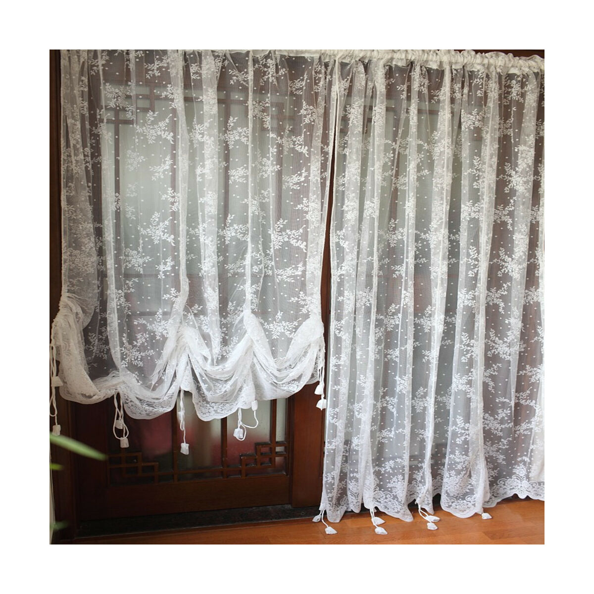 Drape Sheer Voile – Products On Ebay With Regard To Sheer Voile Ruffled Tier Window Curtain Panels (View 10 of 20)