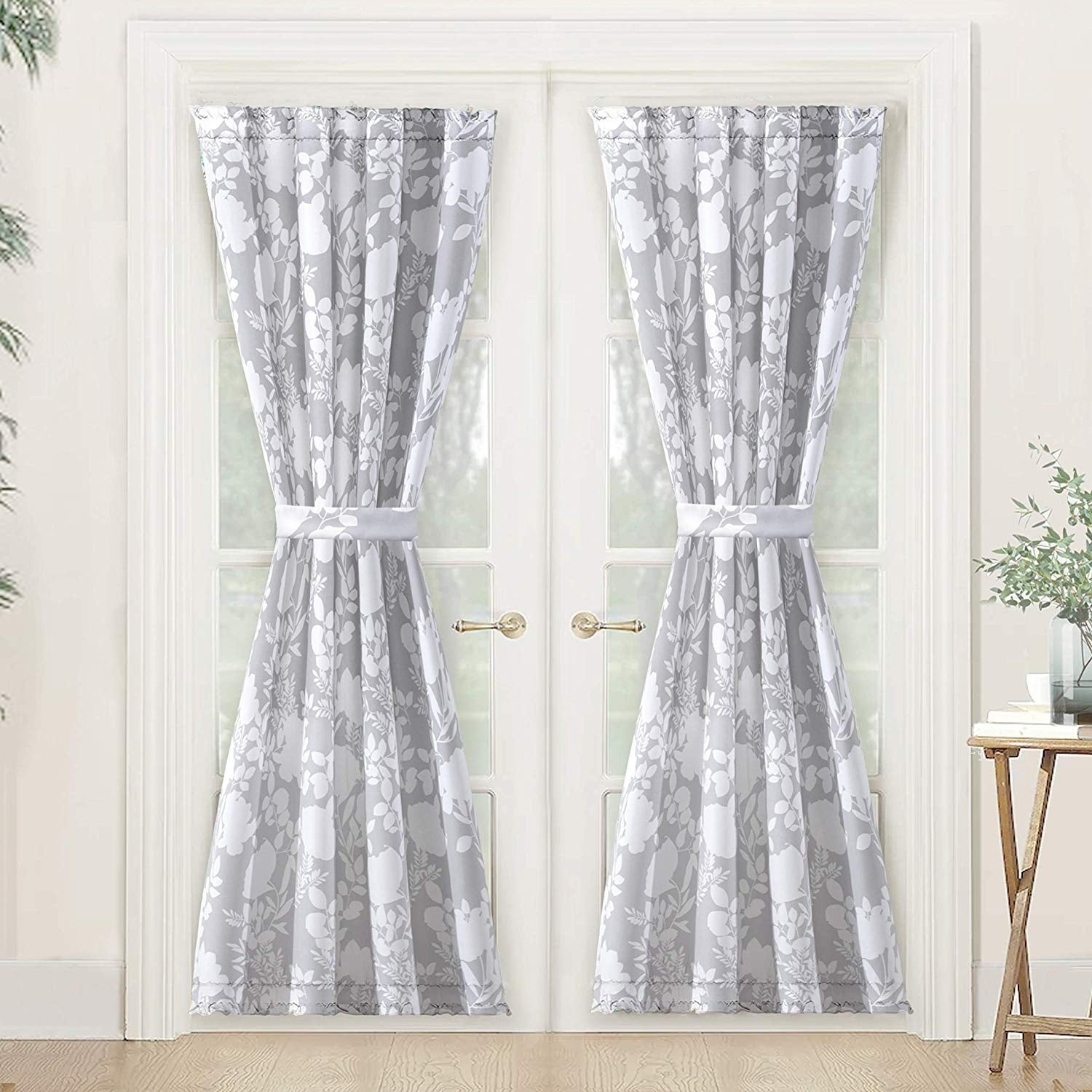 Driftaway Floral Delight Botanic Rod Pocket Room Darkening Patio French Door Single Curtain Panel With Regard To Nantahala Rod Pocket Room Darkening Patio Door Single Curtain Panels (View 16 of 20)