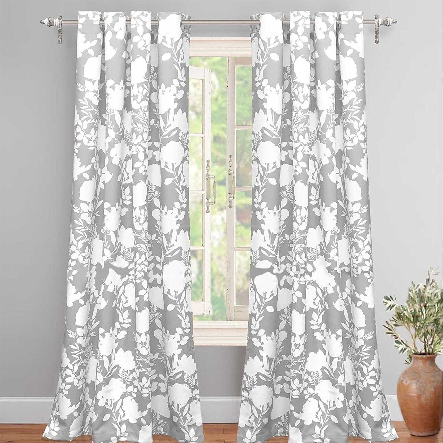 Driftaway Floral Delight Room Darkening Window Curtain Panel Pertaining To Pastel Damask Printed Room Darkening Grommet Window Curtain Panel Pairs (View 6 of 20)