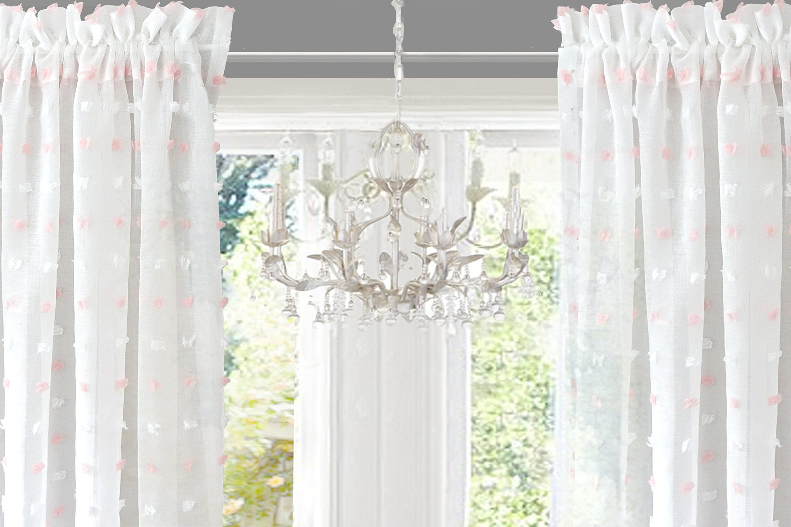 Driftaway Lily White Voile Sheer Window Curtains For Kids Inside Kida Embroidered Sheer Curtain Panels (View 8 of 20)