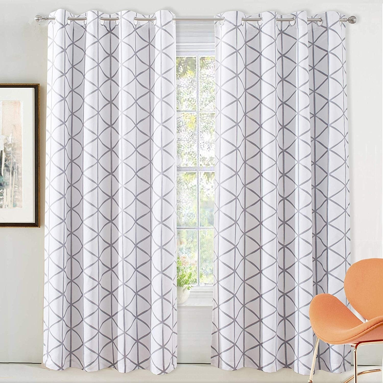 Driftaway Raymond Geometric Pattern Lined Blackout Window Curtain Panel Pair For Kaiden Geometric Room Darkening Window Curtains (View 10 of 20)