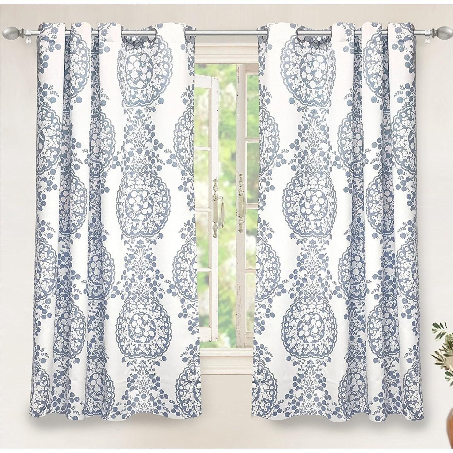 Driftaway Samantha Thermal/room Darkening Window Curtain Pertaining To Pastel Damask Printed Room Darkening Grommet Window Curtain Panel Pairs (View 5 of 20)