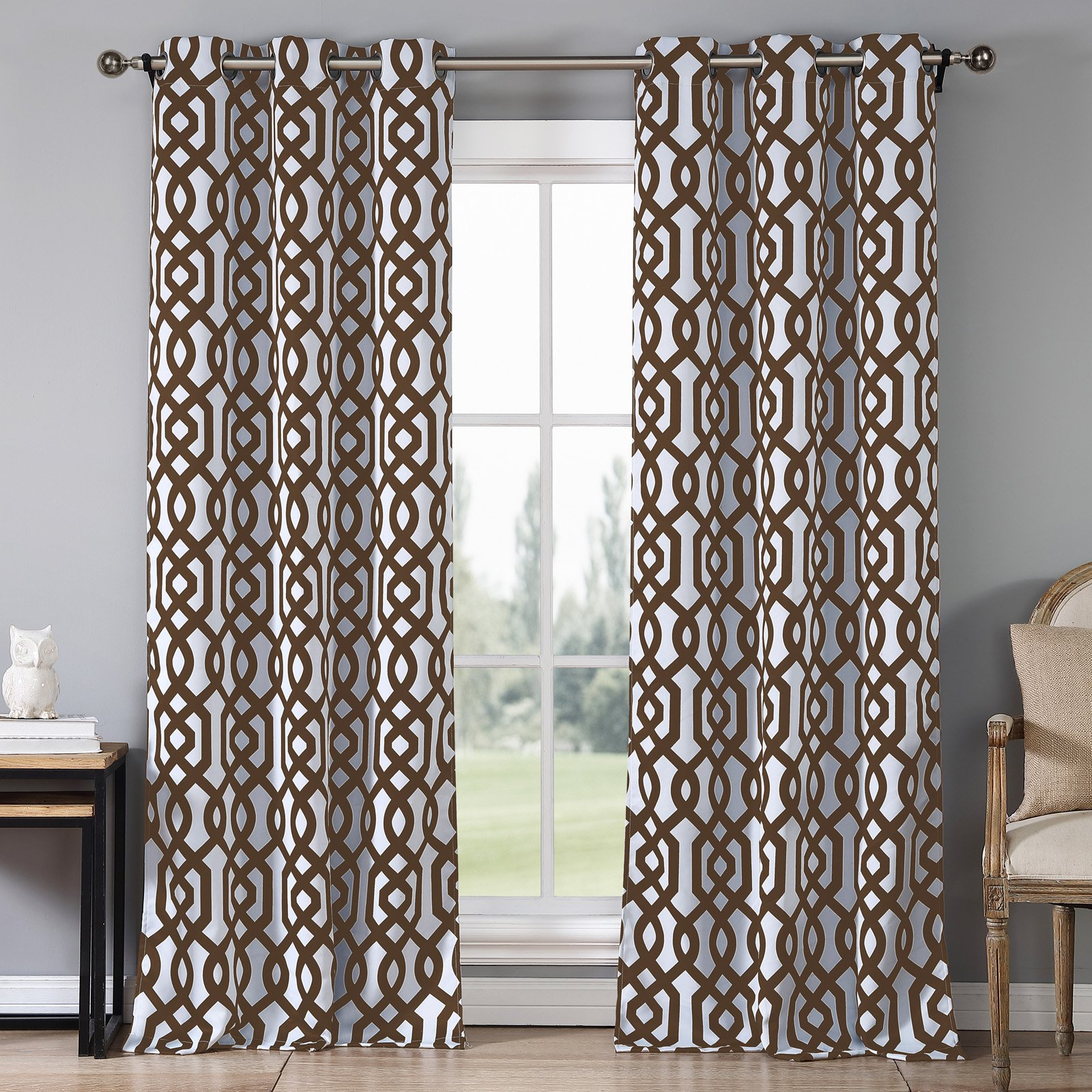 Duck River Ashmont Printed Blackout Grommet Pair Curtain With Primebeau Geometric Pattern Blackout Curtain Pairs (View 11 of 20)