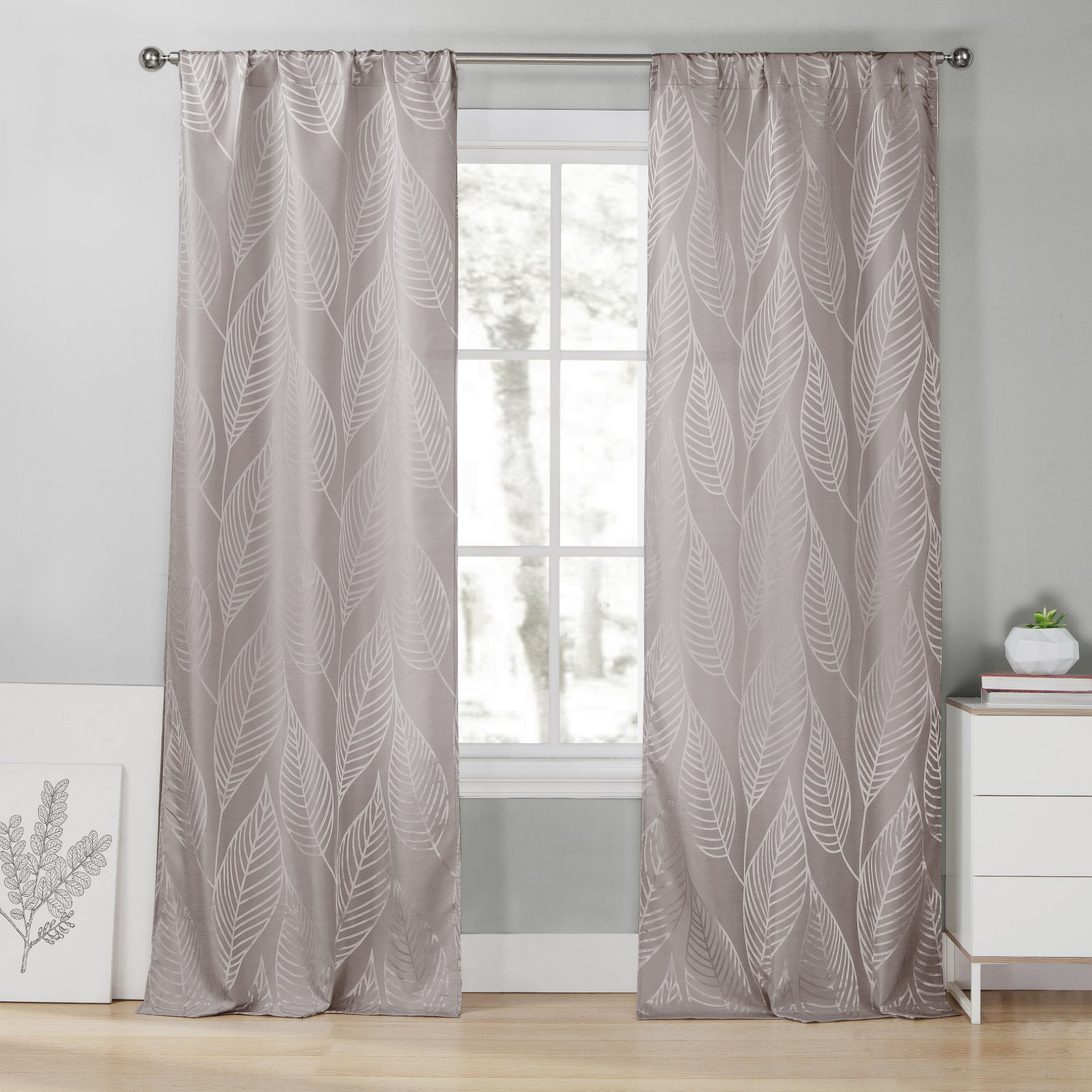 Duck River Leah Pole Top Curtain Panel Pair Steel Gray In Inside Leah Room Darkening Curtain Panel Pairs (View 18 of 20)
