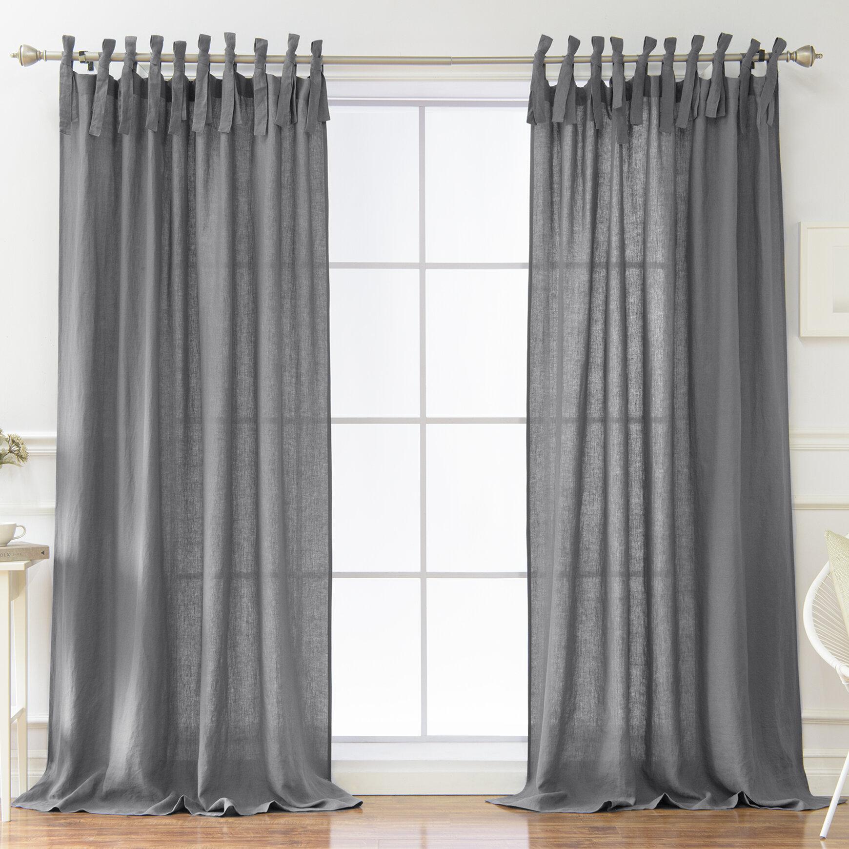 Dungannon Solid Semi Sheer Tab Top Single Curtain Panel In Tab Top Sheer Single Curtain Panels (View 26 of 30)