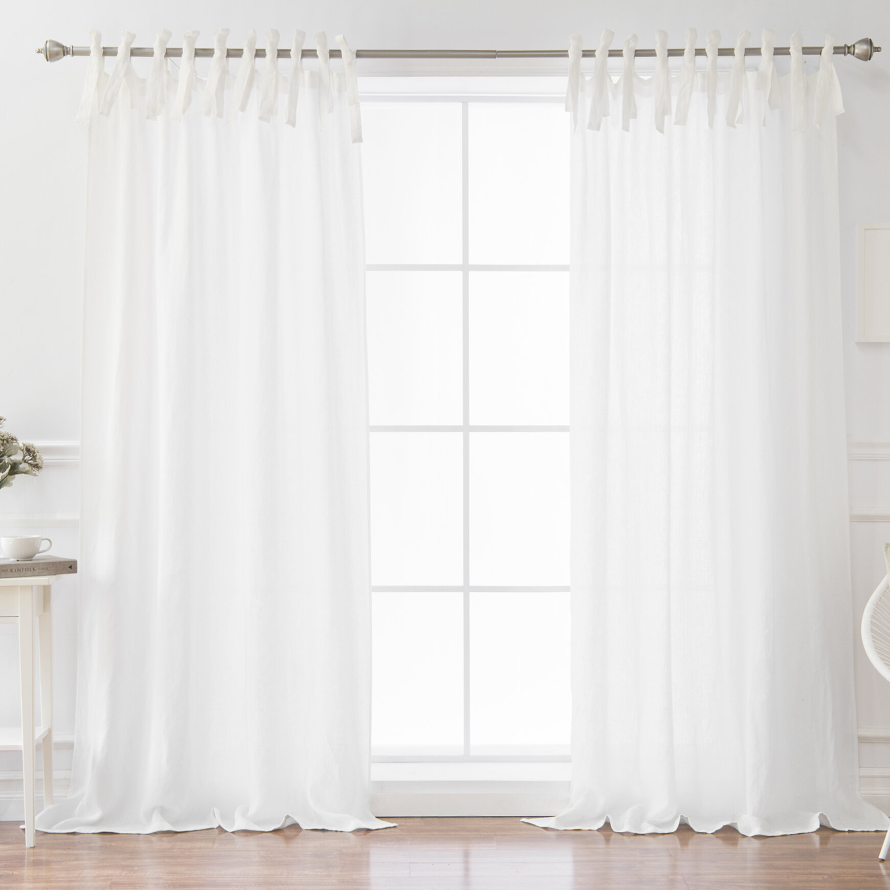 Dungannon Solid Semi Sheer Tab Top Single Curtain Panel With Tab Top Sheer Single Curtain Panels (View 3 of 30)