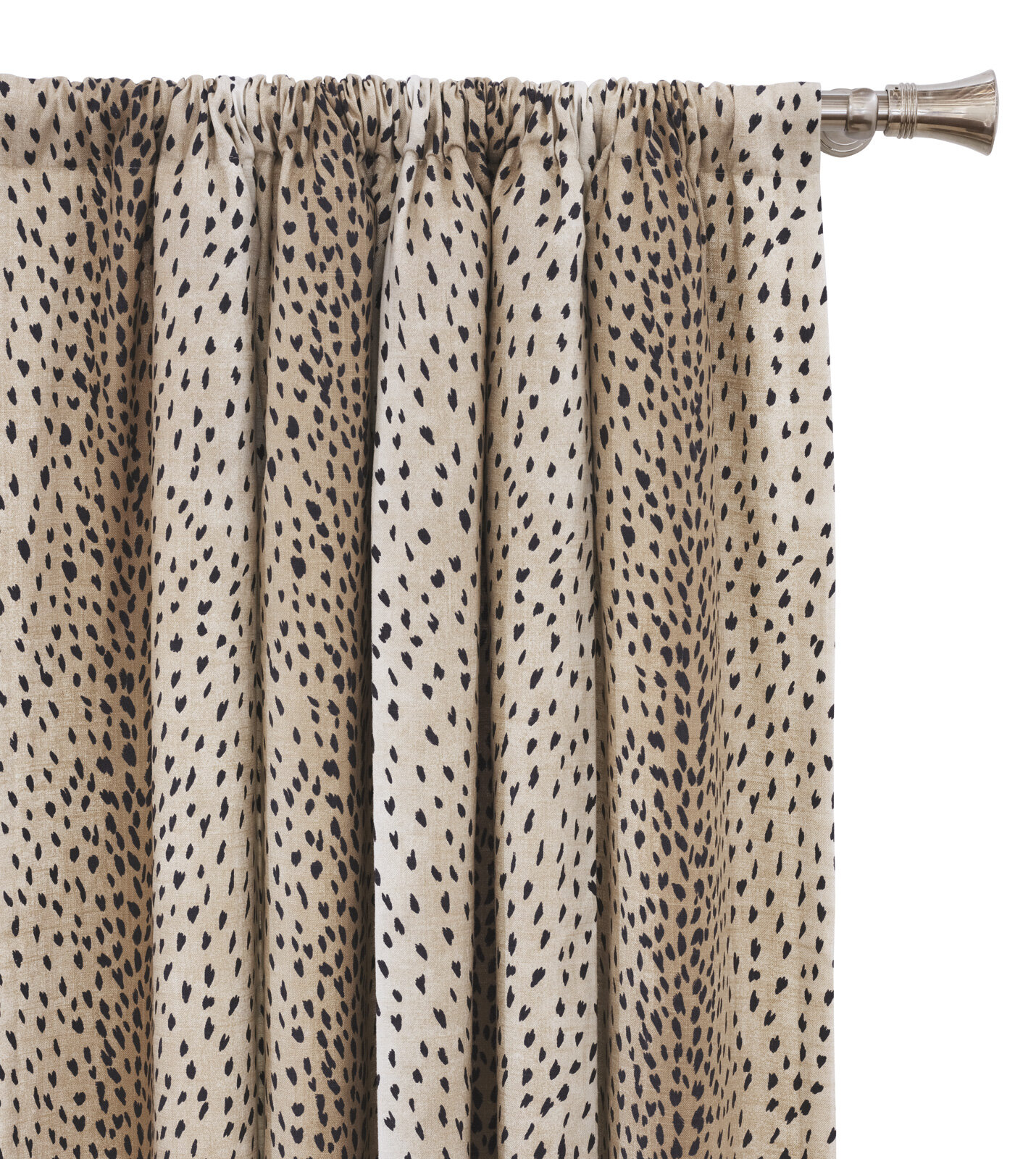 Eastern Accents Inès Spotted Animal Print Room Darkening Rod Intended For Inez Patio Door Window Curtain Panels (View 16 of 20)