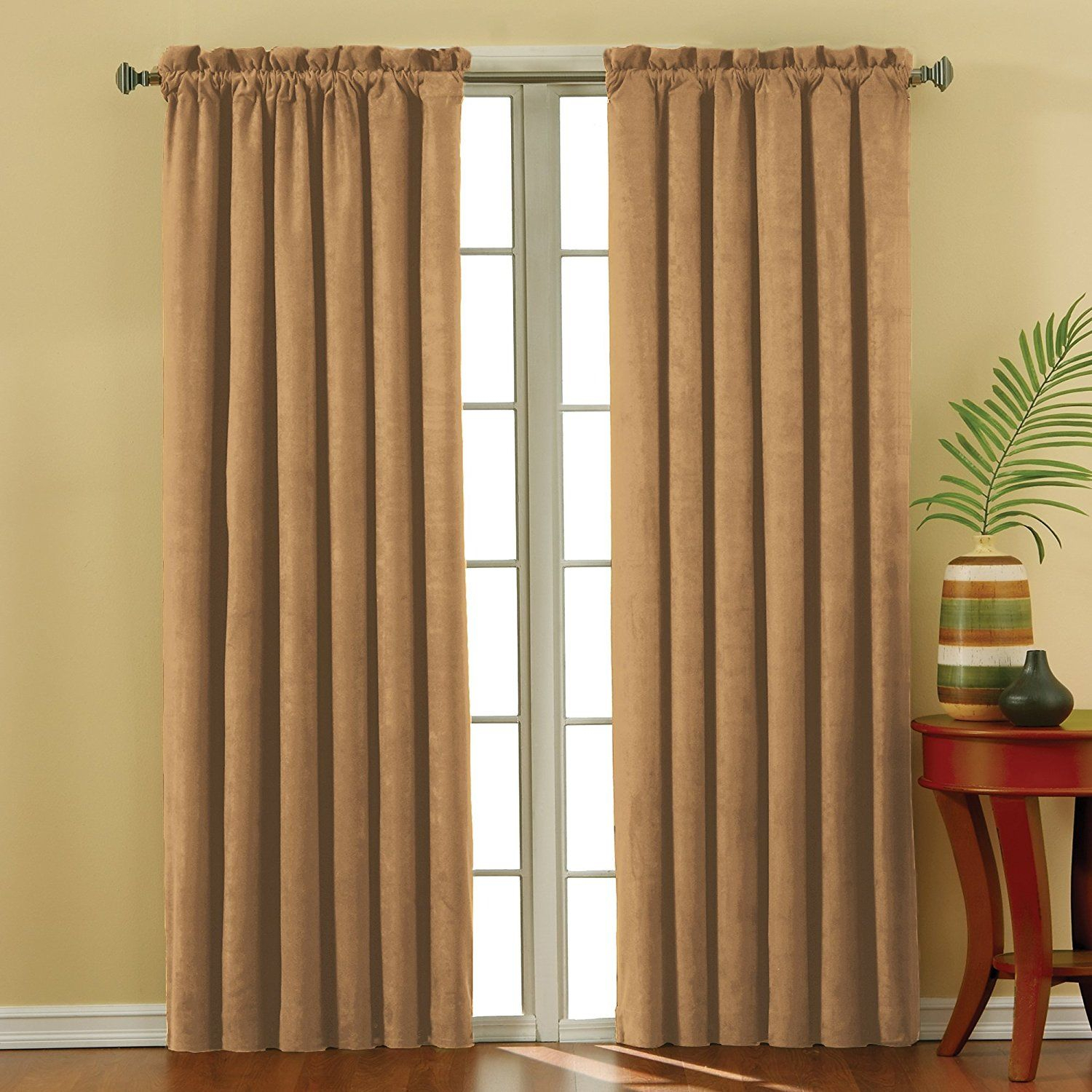 Eclipse 10301042x063go Suede 42 Inch63 Inch Thermaback Intended For Eclipse Corinne Thermaback Curtain Panels (View 11 of 20)