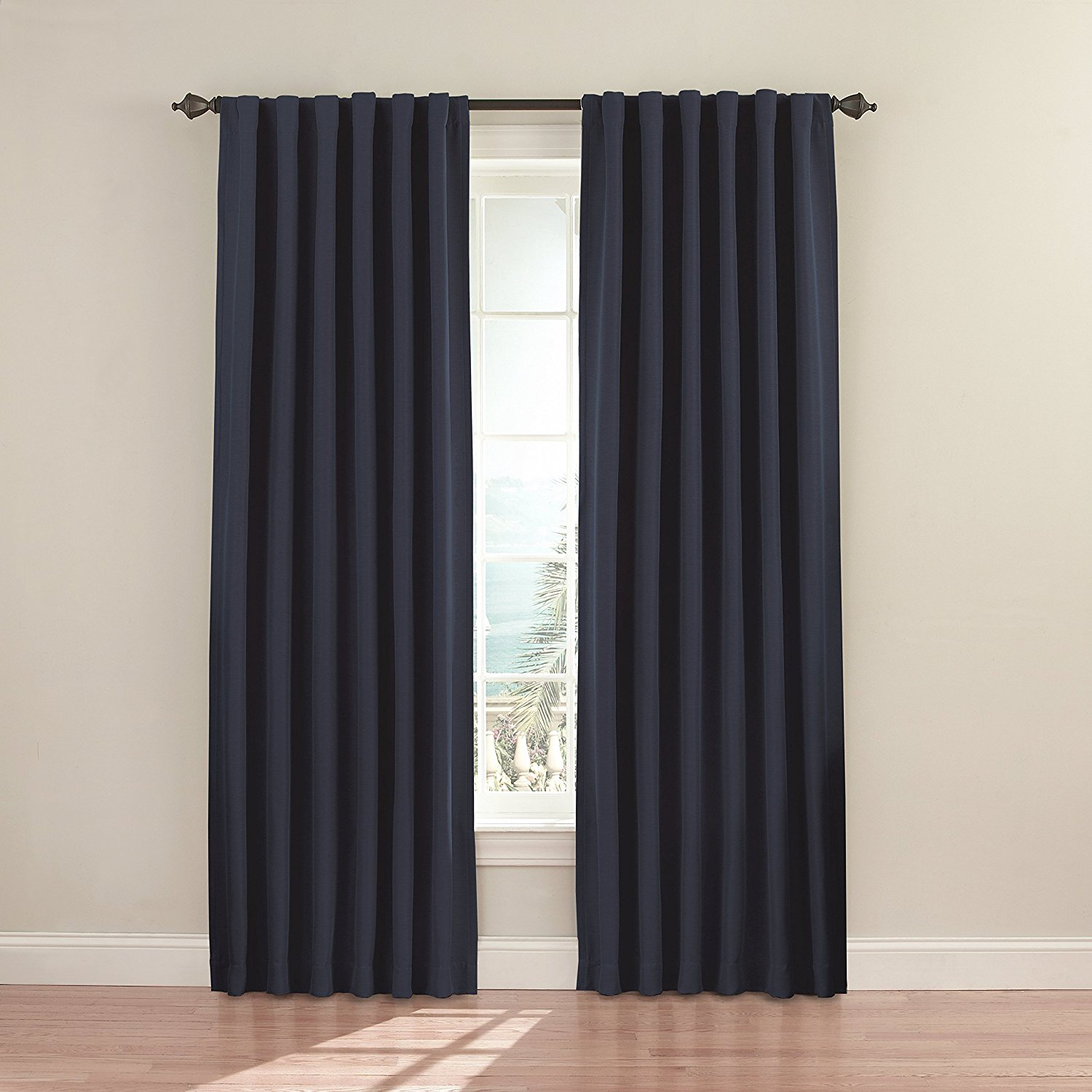 Eclipse 11353052x084bk Fresno 52 Inch84 Inch Blackout Single Window Curtain Panel, Blackeclipse Curtains Ship From Us Inside Eclipse Kendall Blackout Window Curtain Panels (View 16 of 20)