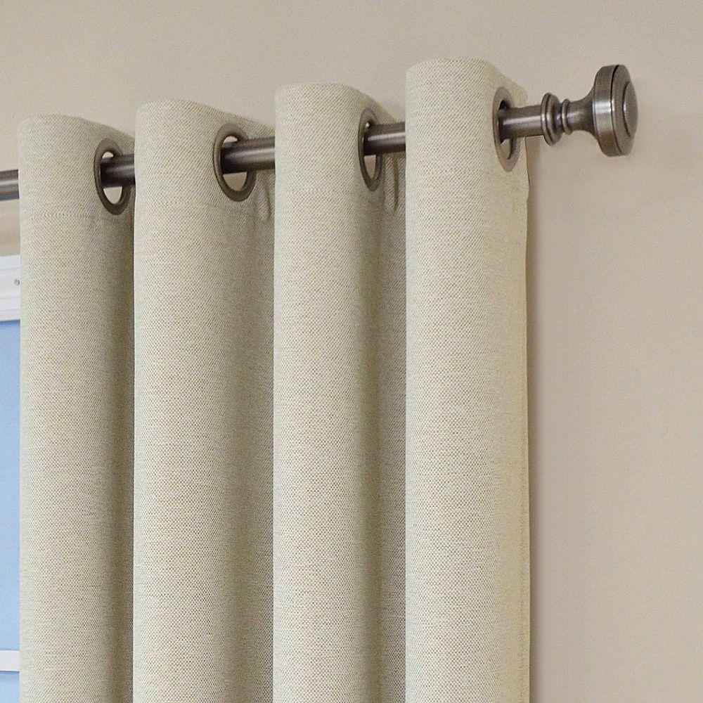 Eclipse Bobbi Blackout Window Curtain Panel In Ivory – 52 In. W X 84 In (View 17 of 20)