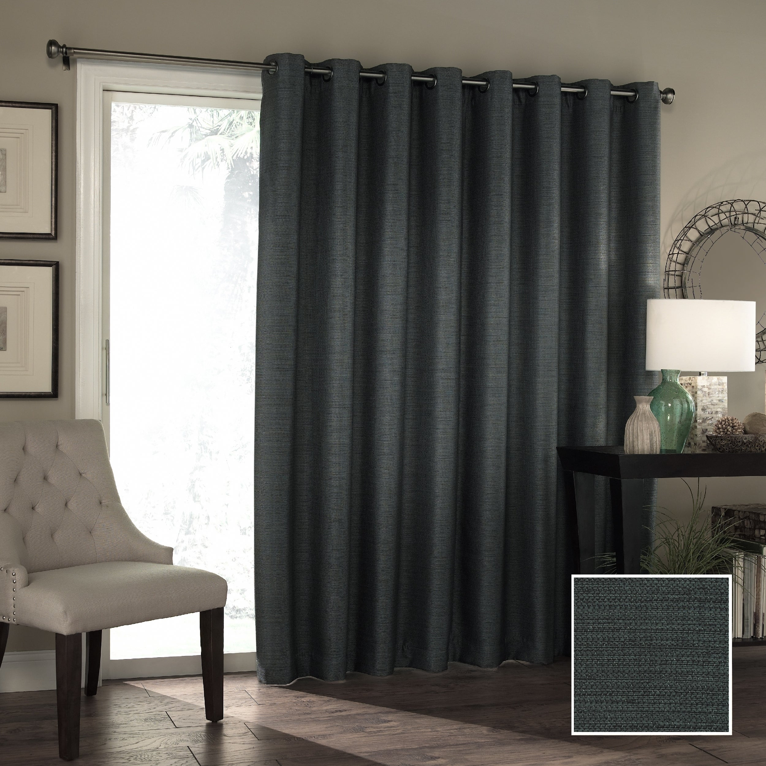 Eclipse Bryson Room Darkening Patio Door Curtain Panel – 100x84 Regarding Nantahala Rod Pocket Room Darkening Patio Door Single Curtain Panels (View 11 of 20)