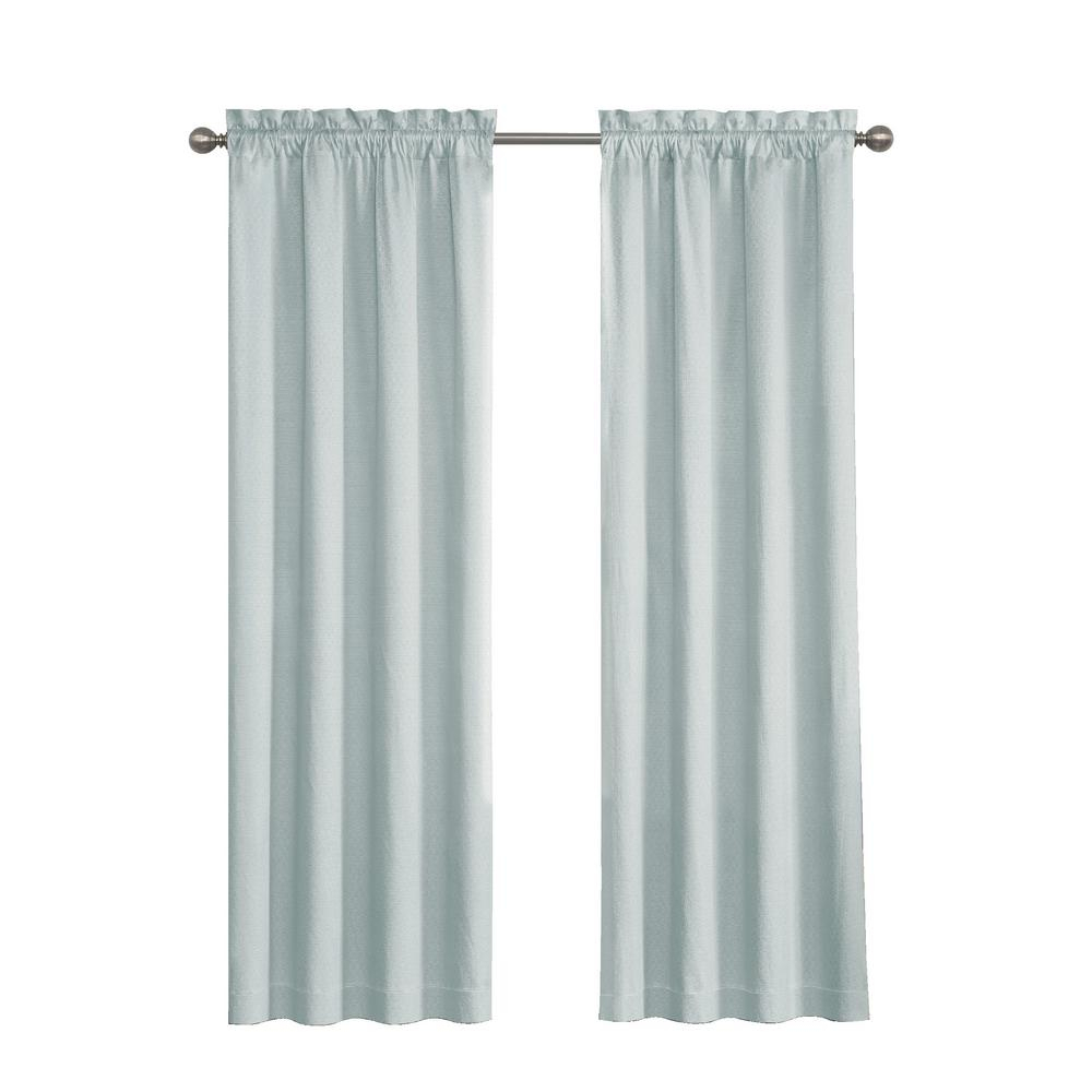 Eclipse Canova Blackout Window Curtain Panel In River Blue – 42 In. W X 63 In (View 11 of 20)