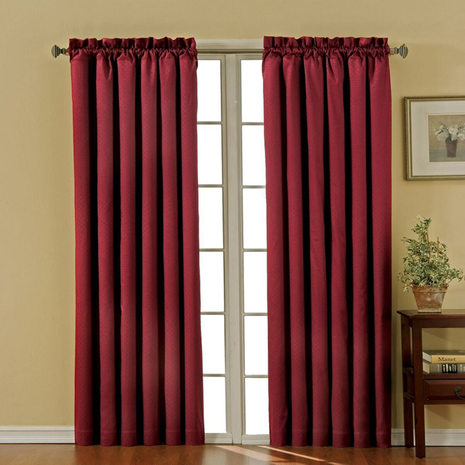 Eclipse Canova Blackout Window Curtain Panel Ivory In 2019 Inside Hayden Rod Pocket Blackout Panels (View 6 of 20)