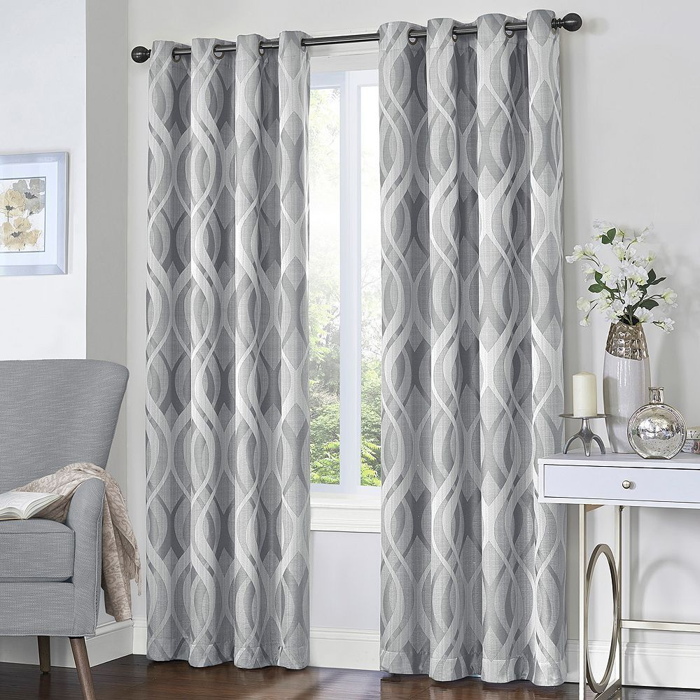 Eclipse Caprese Blackout Window Curtains, Grey, 52x84 In Throughout Eclipse Caprese Thermalayer Blackout Window Curtains (View 7 of 20)