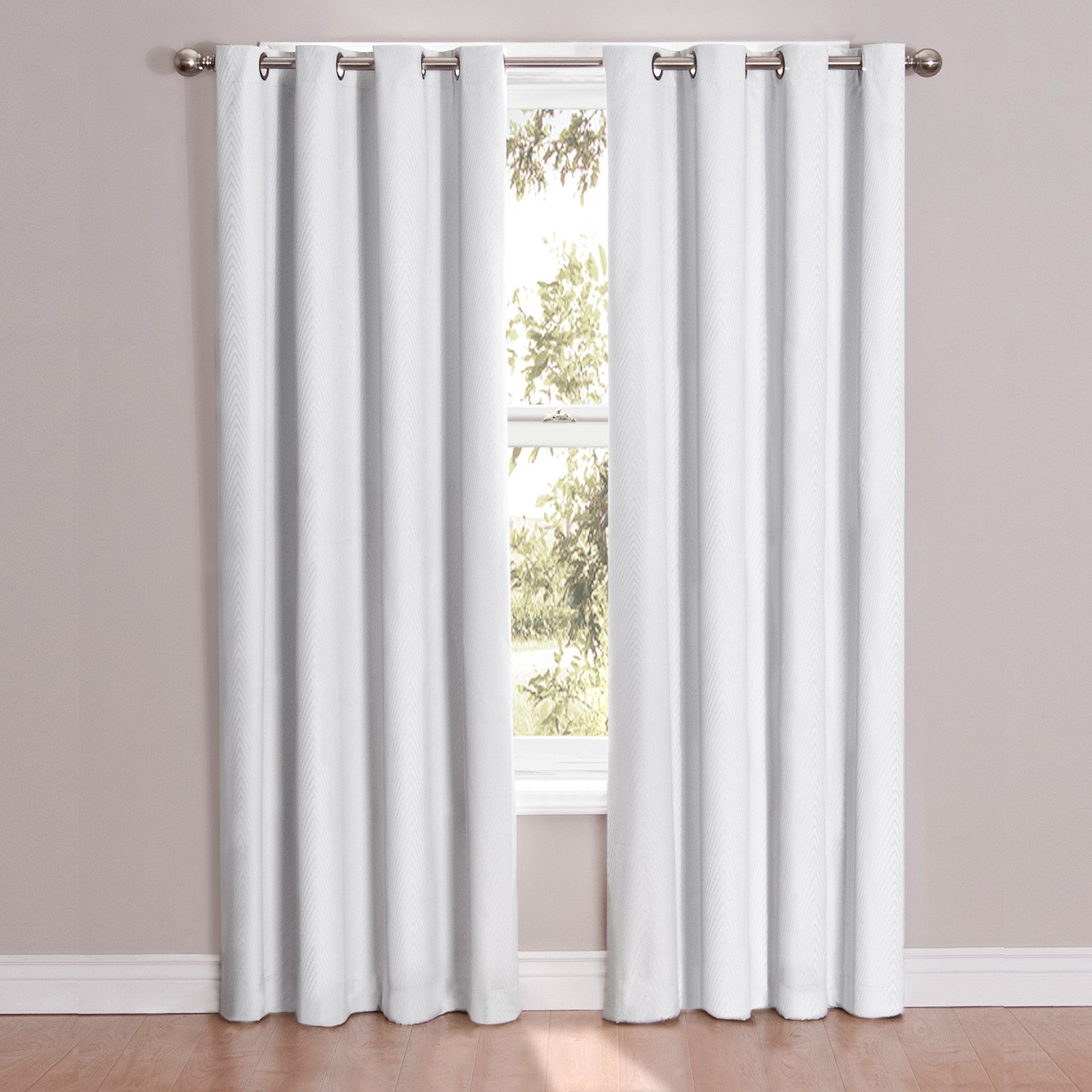 Eclipse Cassidy Blackout Grommet Window Curtain Panel Within Thermaback Blackout Window Curtains (View 10 of 30)