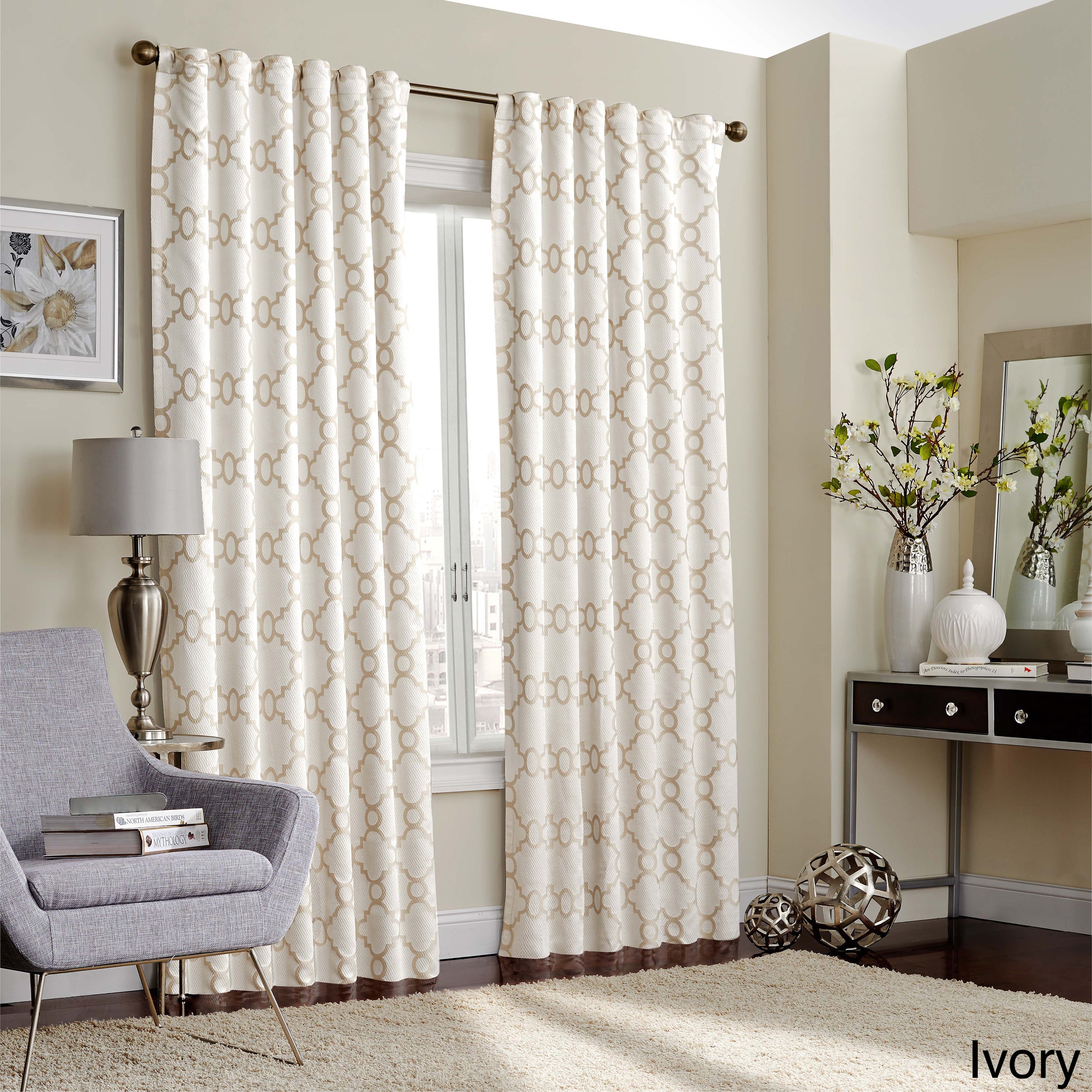 Eclipse Correll Thermalayer Blackout Window Curtain Panel Regarding Gracewood Hollow Tucakovic Energy Efficient Fabric Blackout Curtains (View 4 of 20)