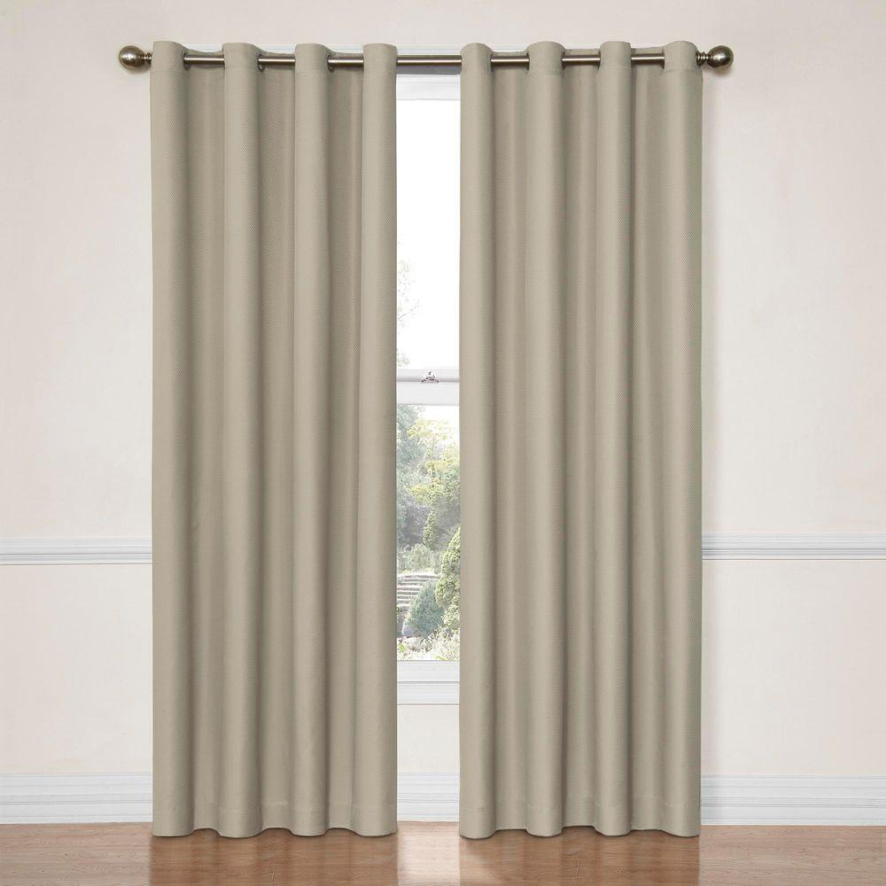 Eclipse Dane Blackout String Beige Curtain Panel, 84 In (View 10 of 20)