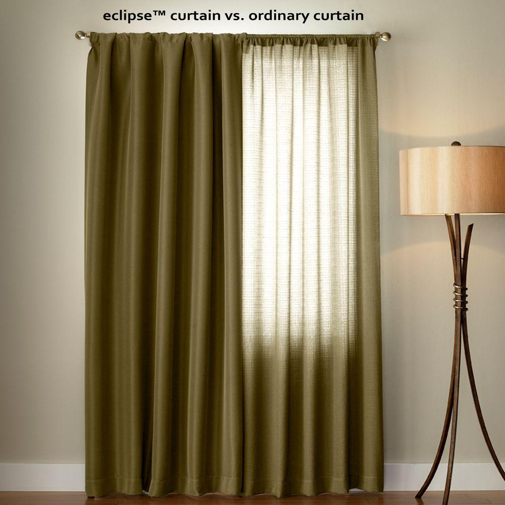 Eclipse Dane Blackout Window Curtain Panel In Smoke – 52 In. W X 84 In (View 7 of 30)