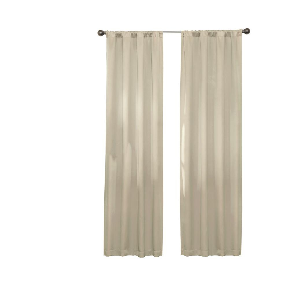 Eclipse Darrell Thermaweave Blackout Window Curtain Panel In Natural – 37 In. W X 84 In (View 3 of 20)