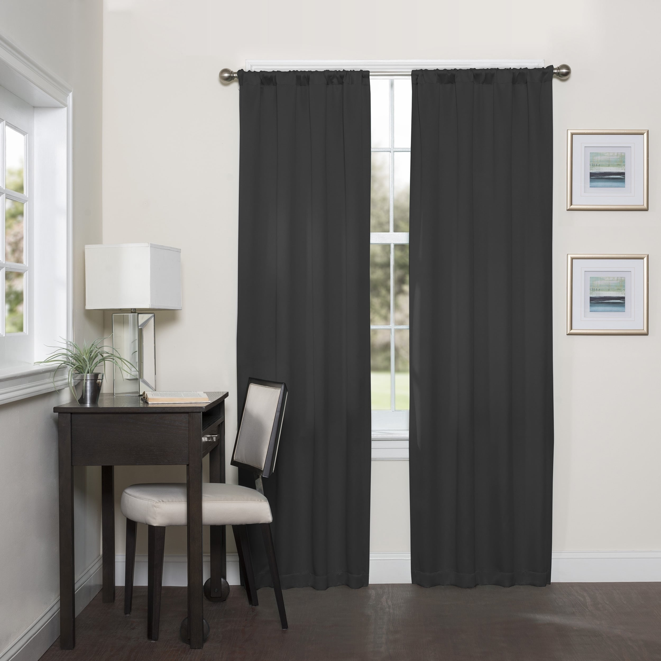 Featured Photo of Eclipse Darrell Thermaweave Blackout Window Curtain Panels