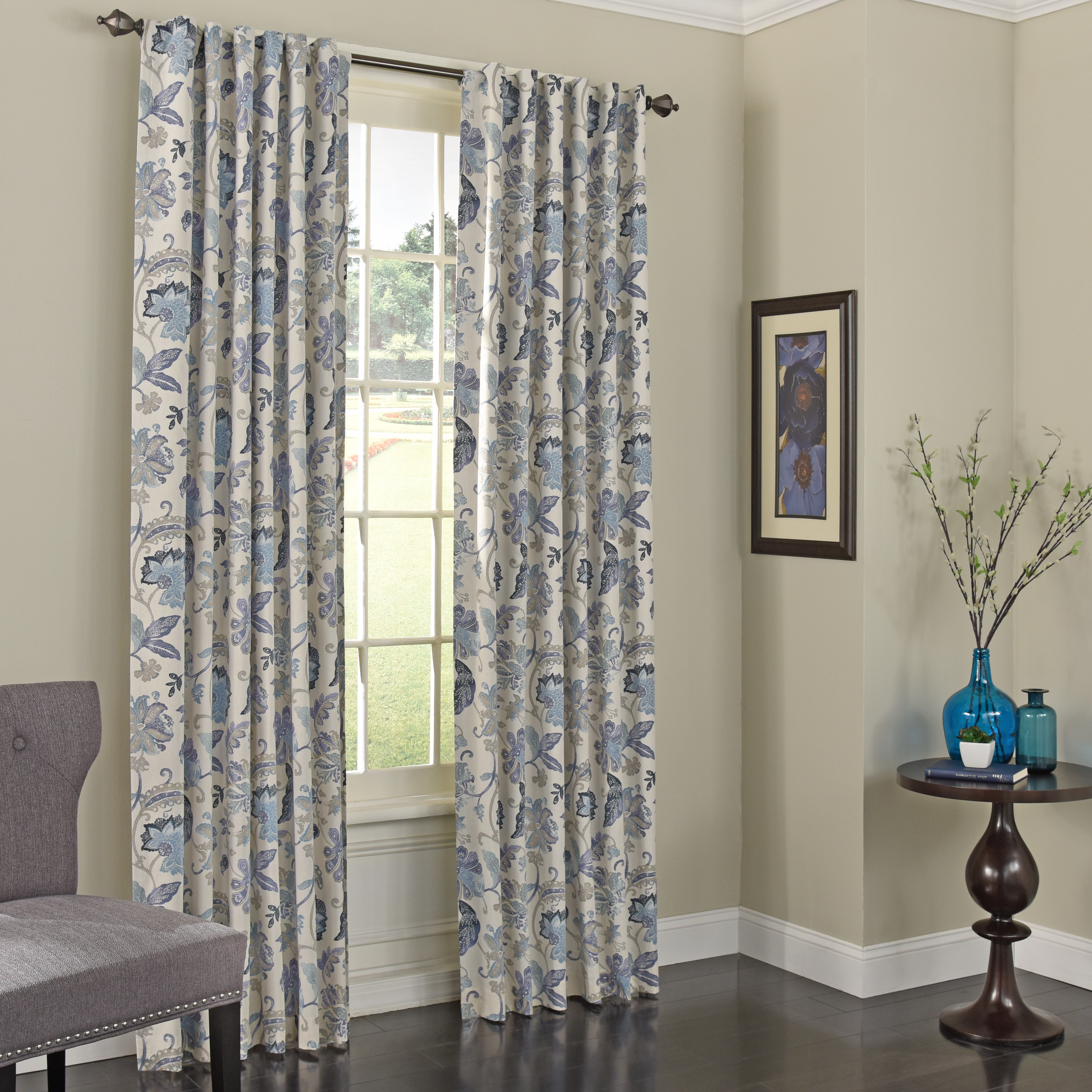 Eclipse Fresno Blackout Window Curtain – Curtain Decorating Inside Eclipse Darrell Thermaweave Blackout Window Curtain Panels (View 15 of 20)