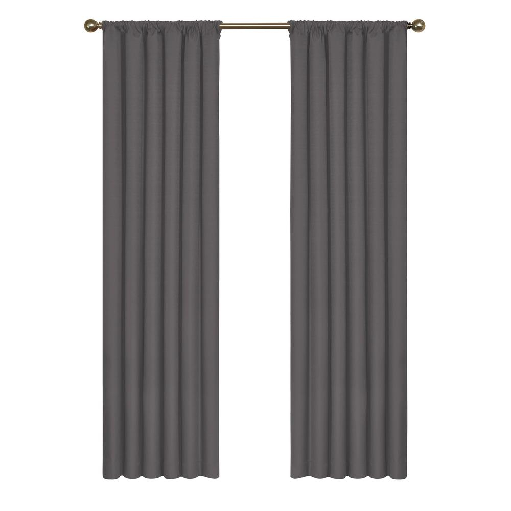 Eclipse Kendall Blackout Window Curtain Panel In Charcoal – 42 In. W X 63 In (View 7 of 20)