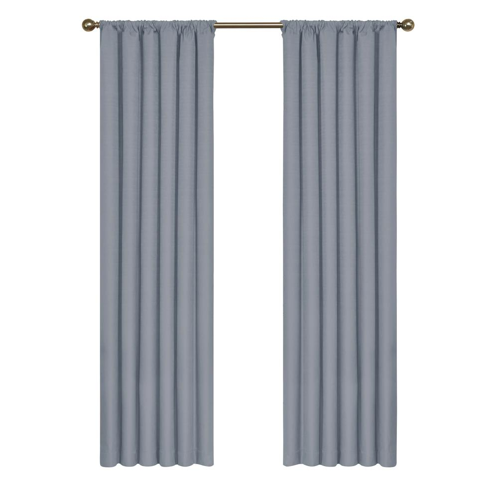 Eclipse Kendall Blackout Window Curtain Panel In Slate – 42 In. W X 54 In (View 12 of 20)