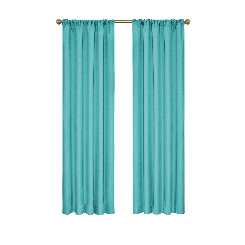 Eclipse Kendall Blackout Window Curtain Panel In Turquoise – 42 In. W X 84 In (View 10 of 20)