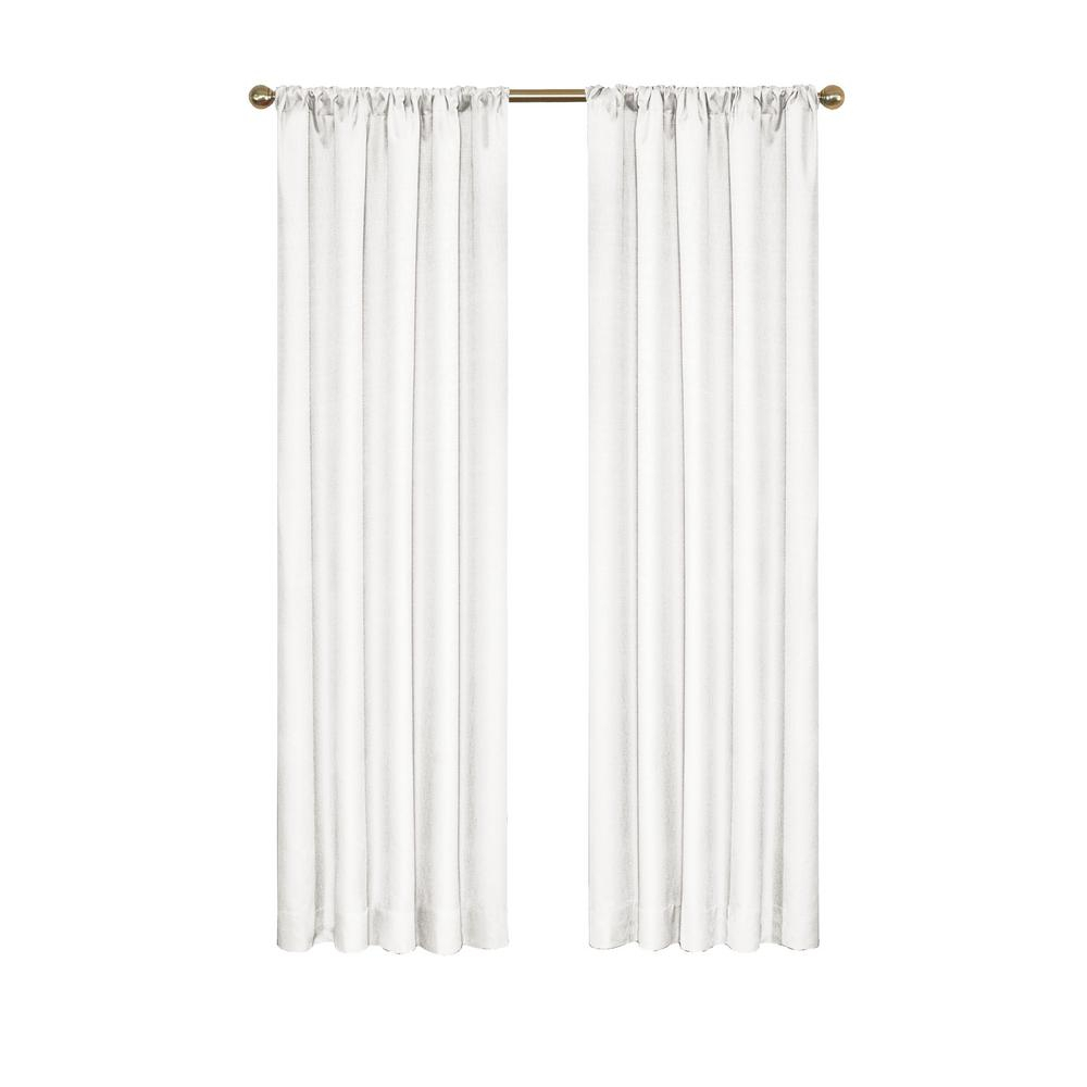 Eclipse Kendall Blackout Window Curtain Panel In White – 42 In. W X 54 In (View 17 of 20)