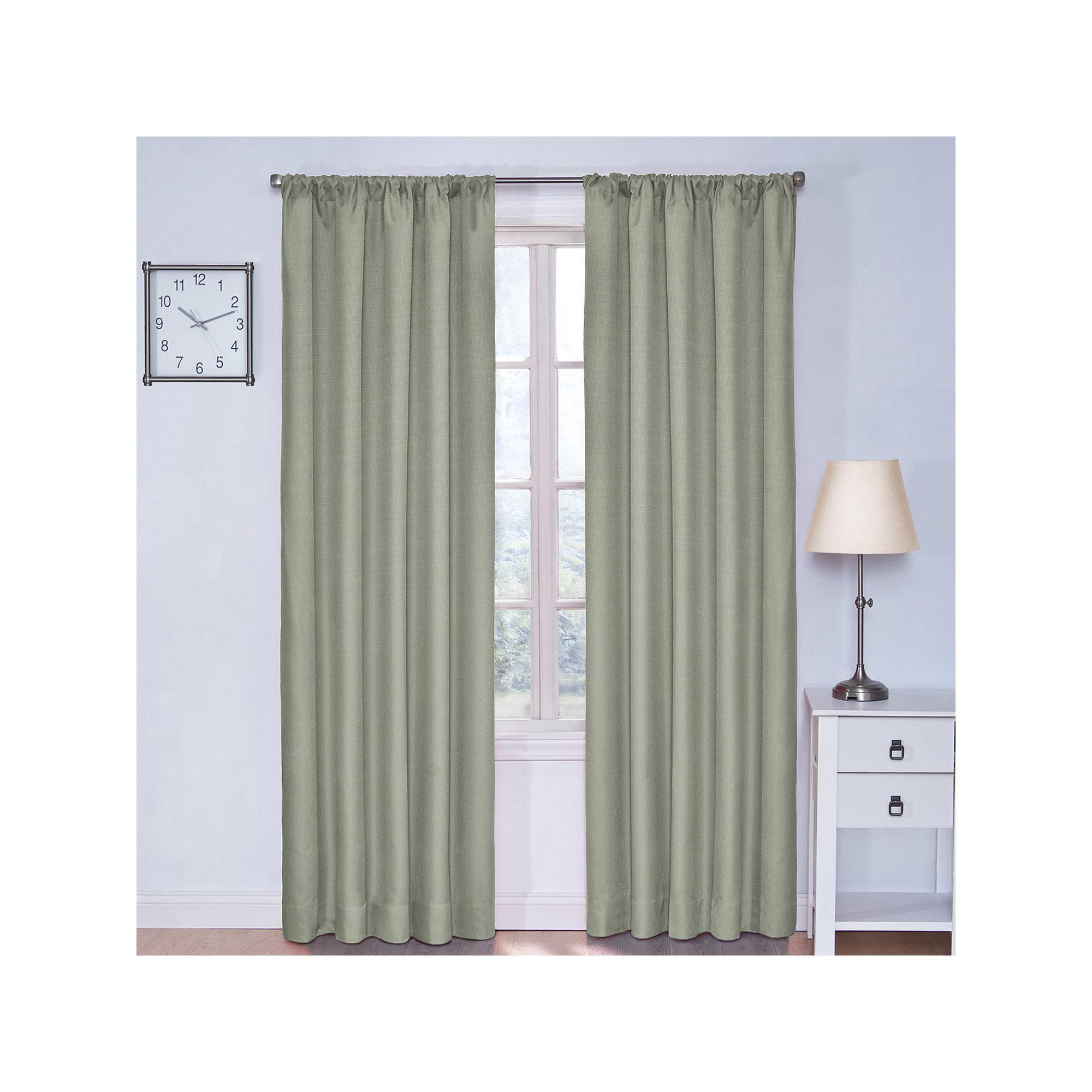 Eclipse Kendall Blackout Window Curtain | Products With Regard To Thermaback Blackout Window Curtains (View 17 of 30)