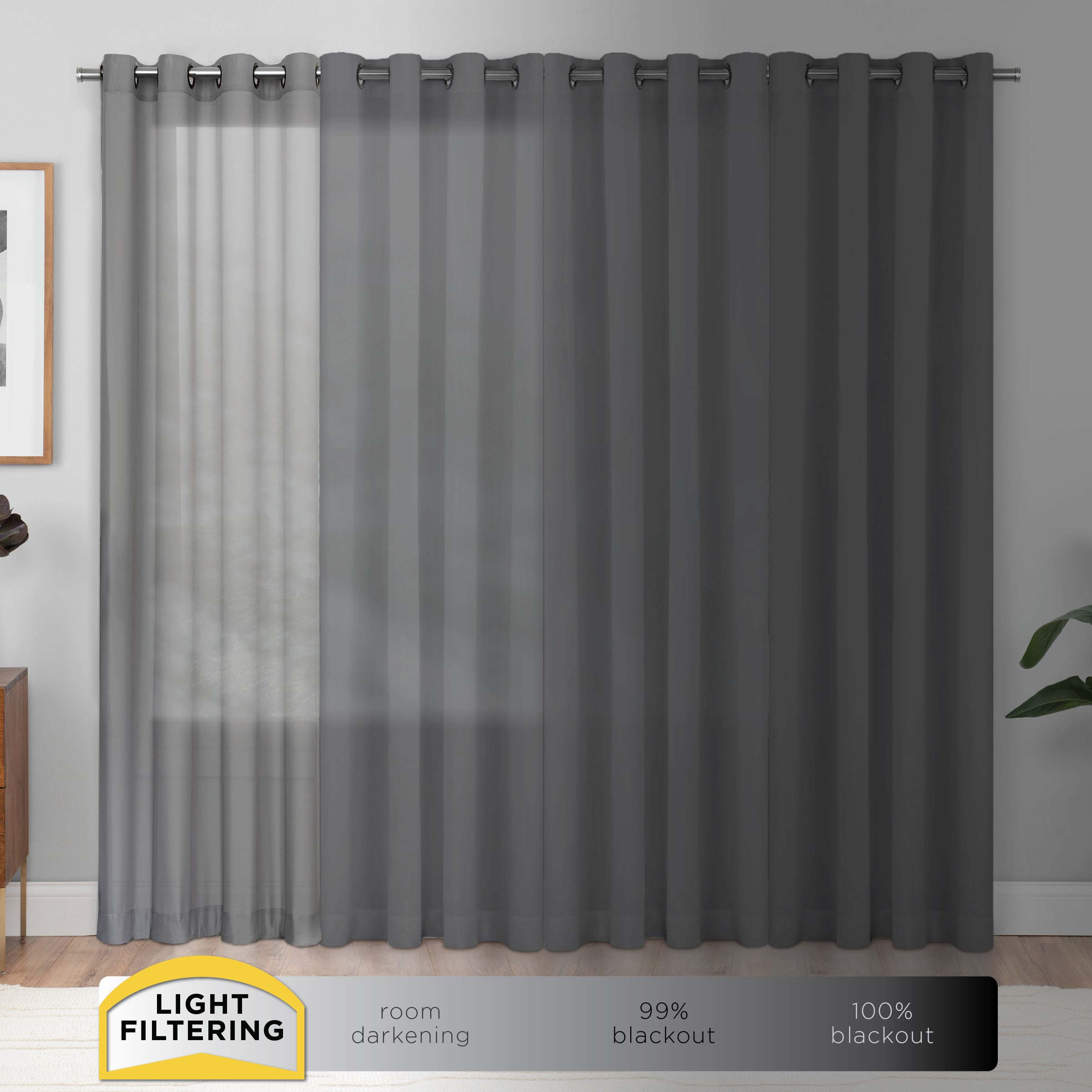 Eclipse Liberty Light Filtering Sheer Curtain Throughout Light Filtering Sheer Single Curtain Panels (View 16 of 20)