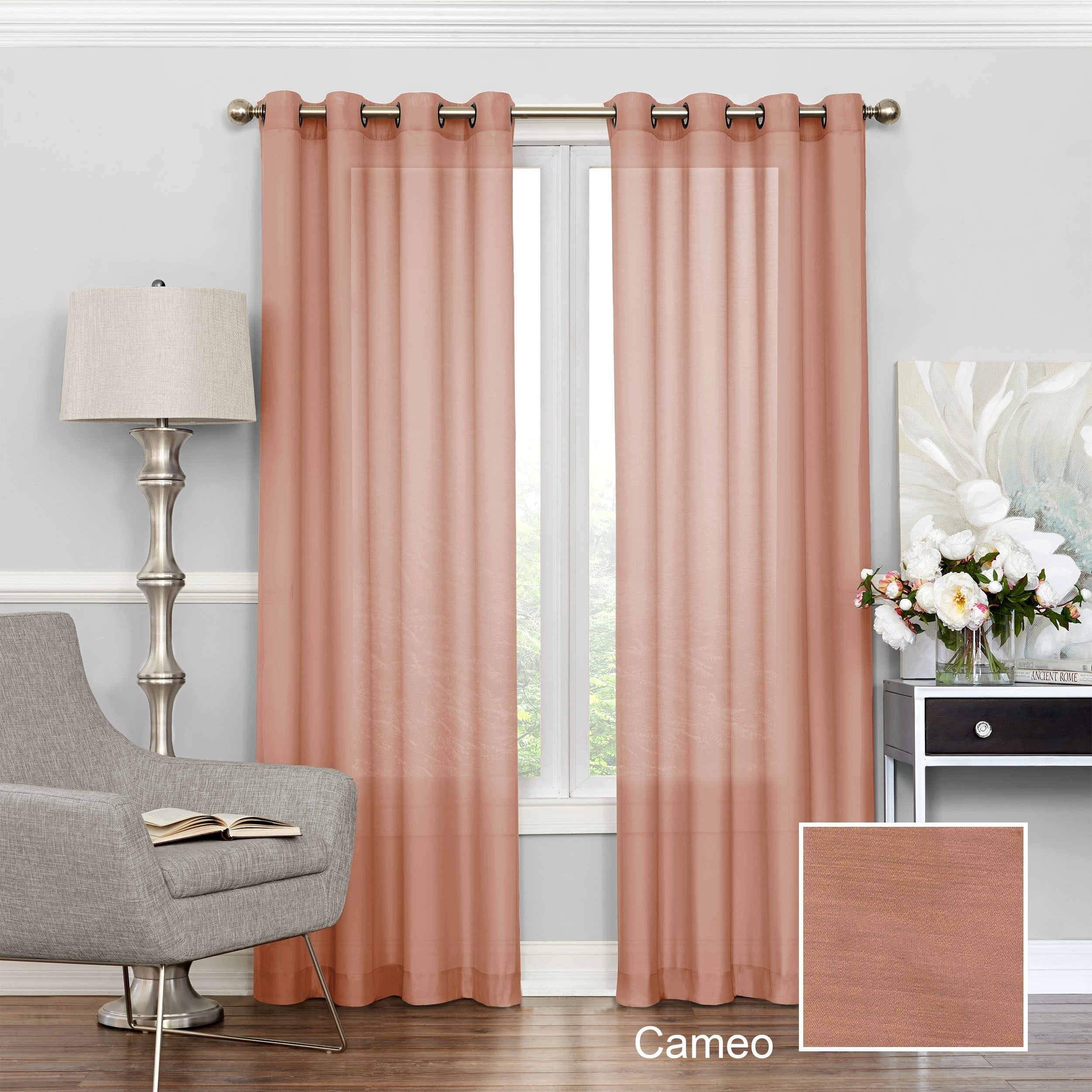 Eclipse Liberty Light Filtering Sheer Curtain Throughout Luxury Collection Cranston Sheer Curtain Panel Pairs (View 7 of 20)
