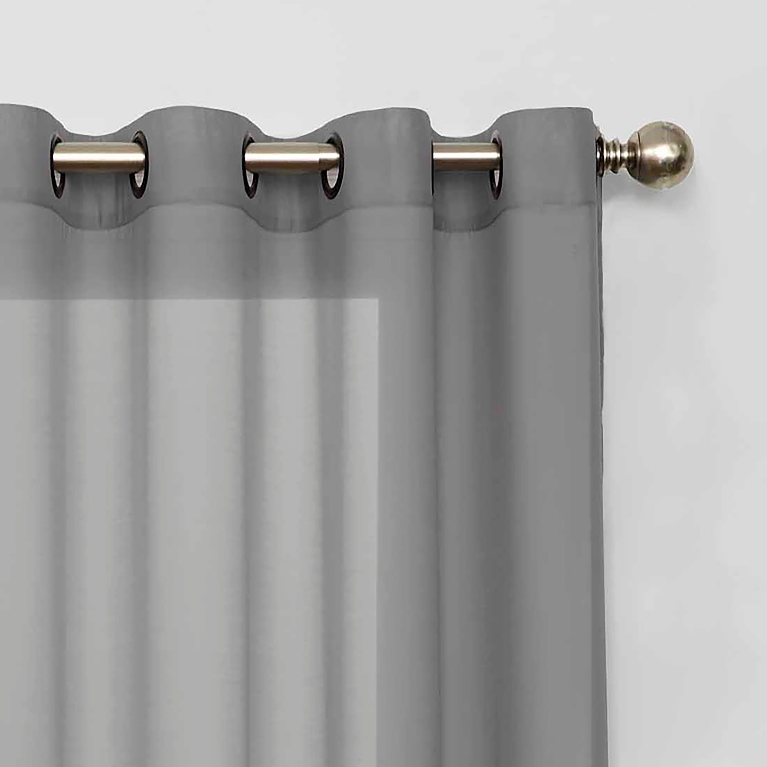 Eclipse Liberty Light Filtering Sheer Single Curtain Panel For Light Filtering Sheer Single Curtain Panels (View 9 of 20)
