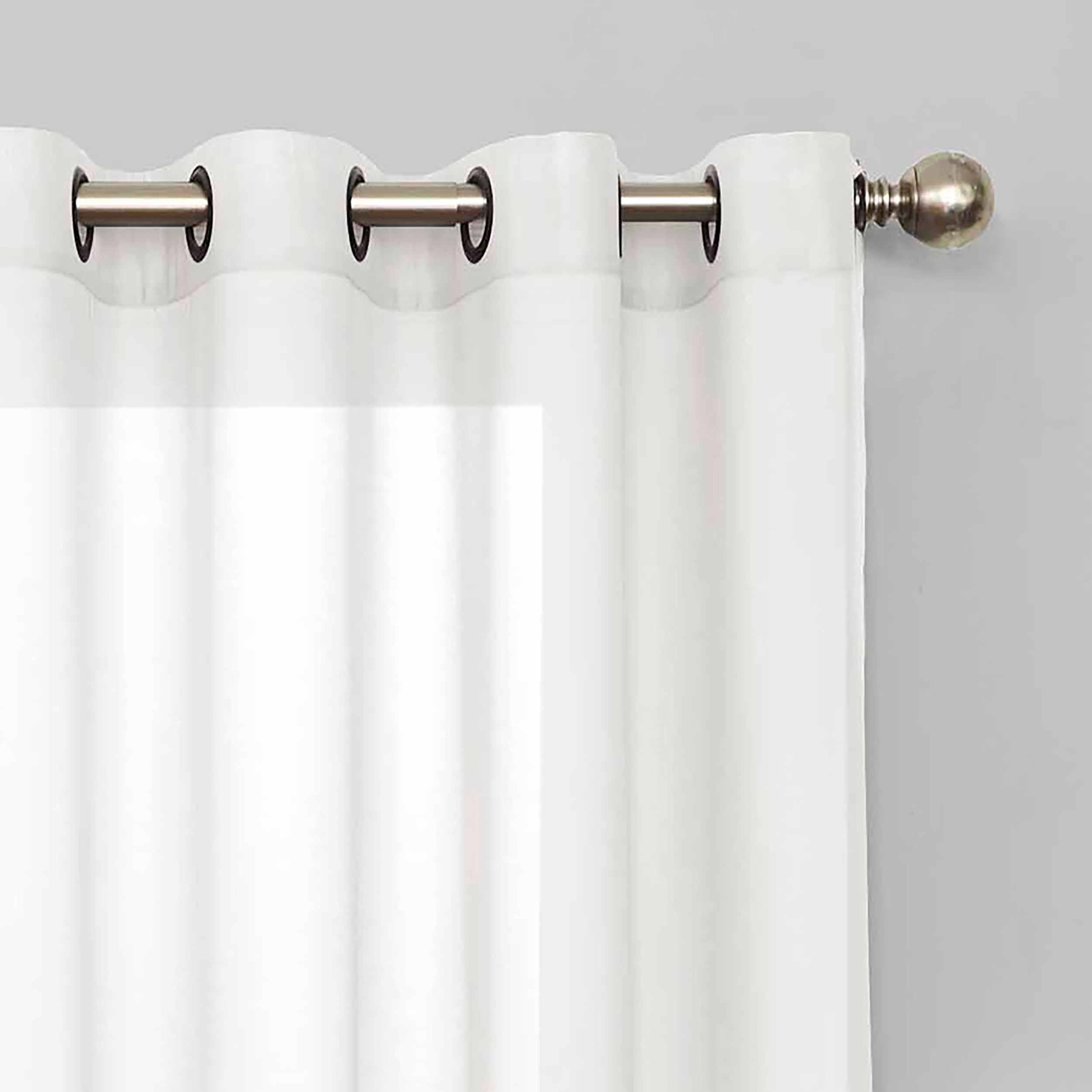Eclipse Liberty Light Filtering Sheer Single Curtain Panel Pertaining To Light Filtering Sheer Single Curtain Panels (View 8 of 20)