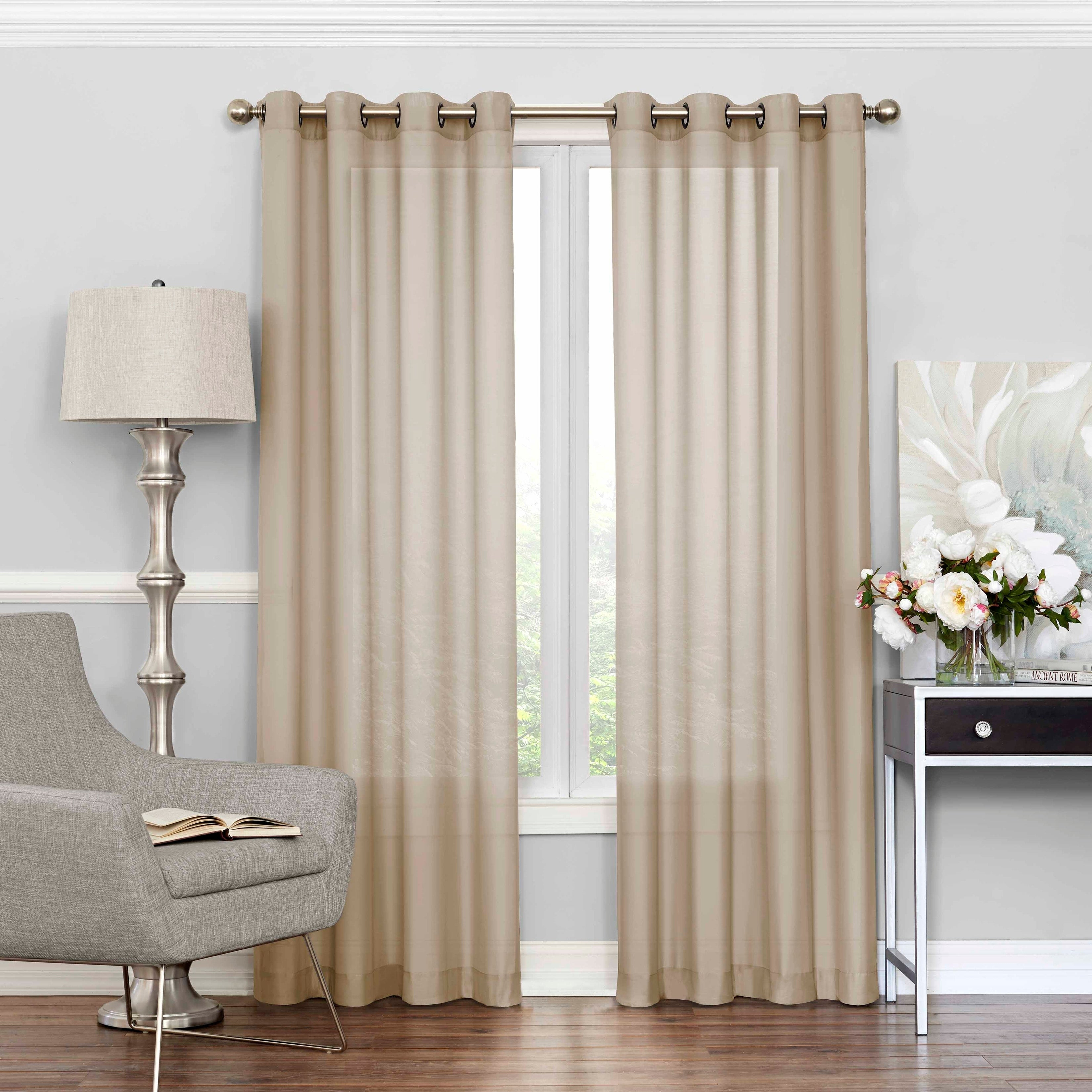 Featured Photo of Light Filtering Sheer Single Curtain Panels