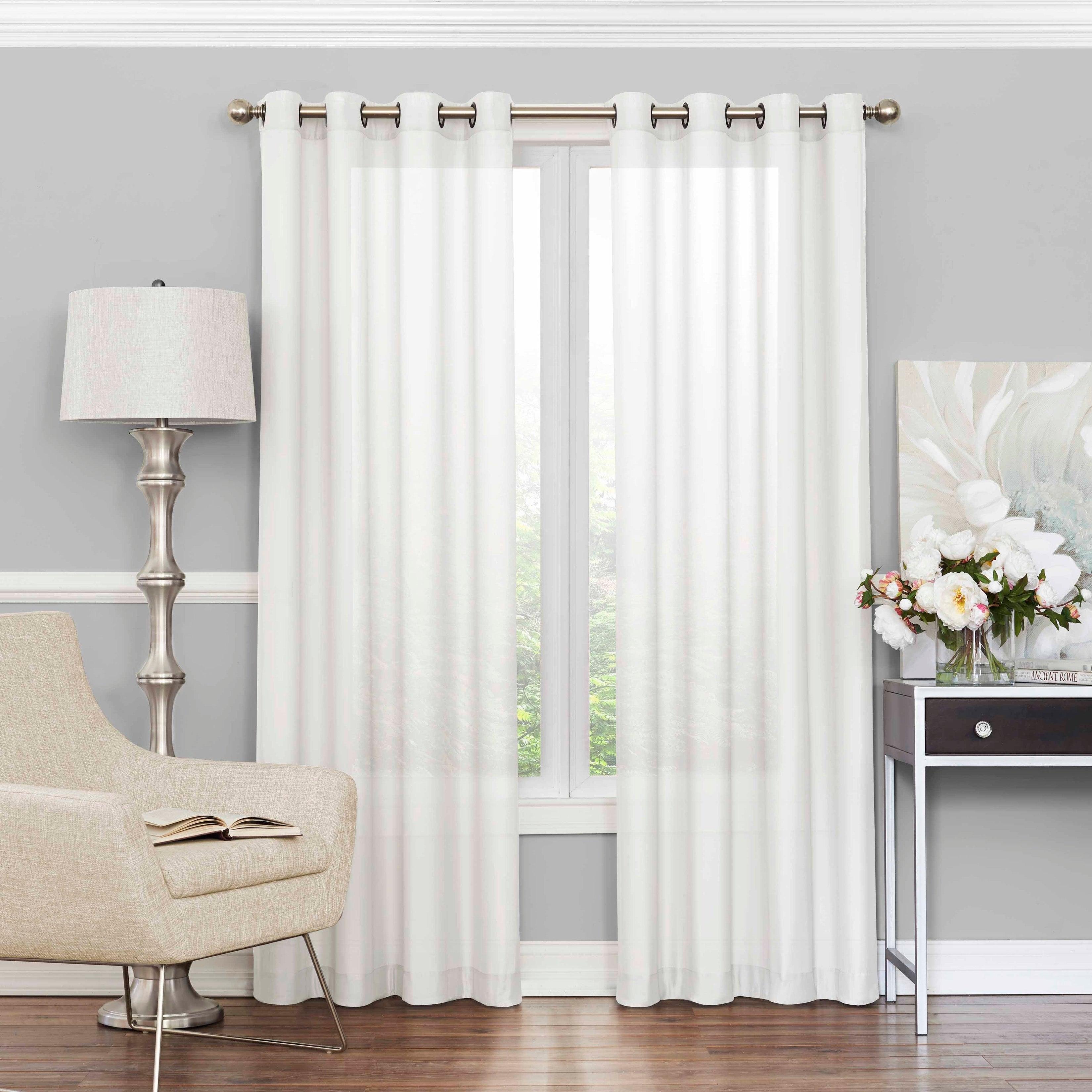Eclipse Liberty Light Filtering Sheer Single Curtain Panel With Regard To Light Filtering Sheer Single Curtain Panels (View 3 of 20)