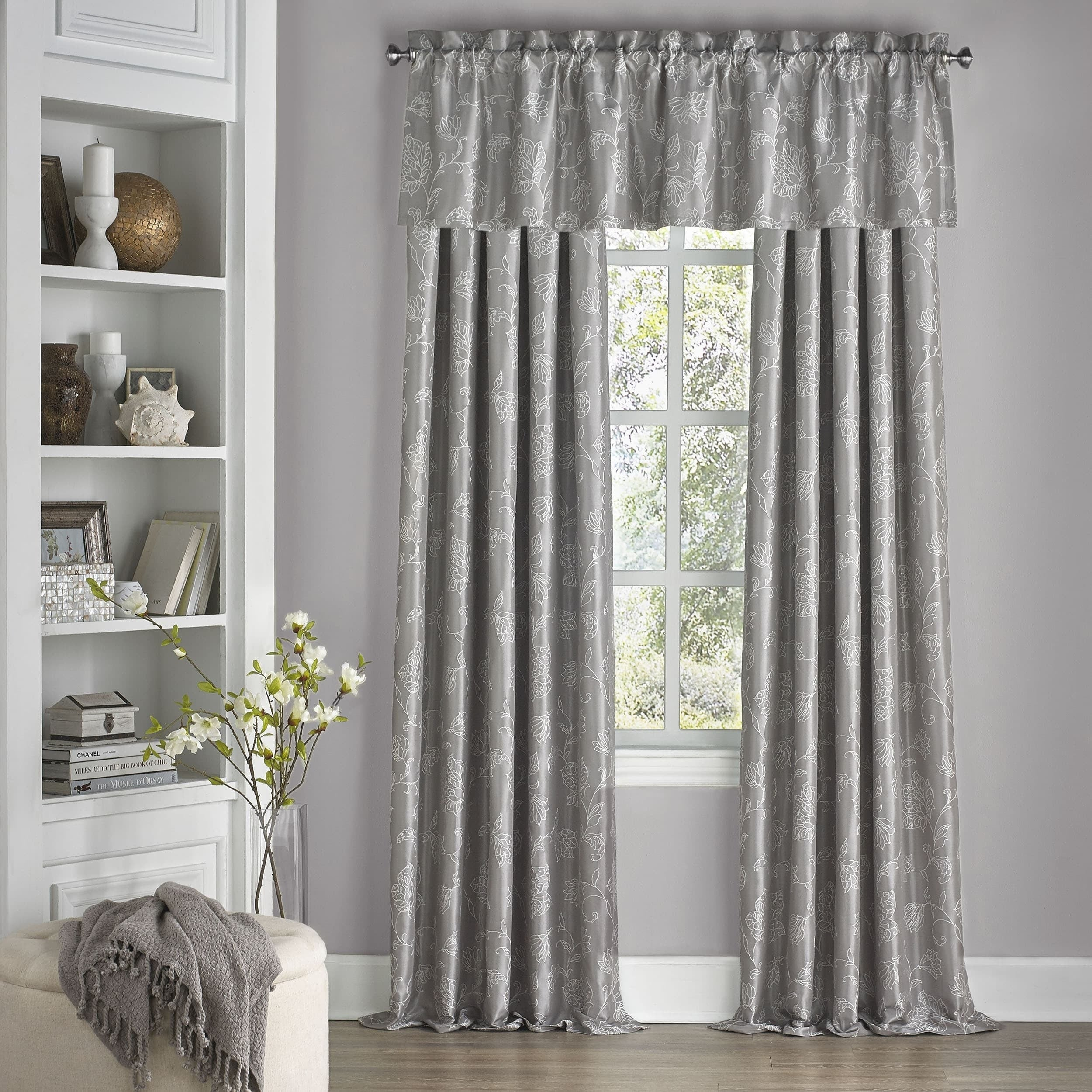 Eclipse Mallory Floral Blackout Window Curtain Panel Regarding Eclipse Corinne Thermaback Curtain Panels (View 16 of 20)