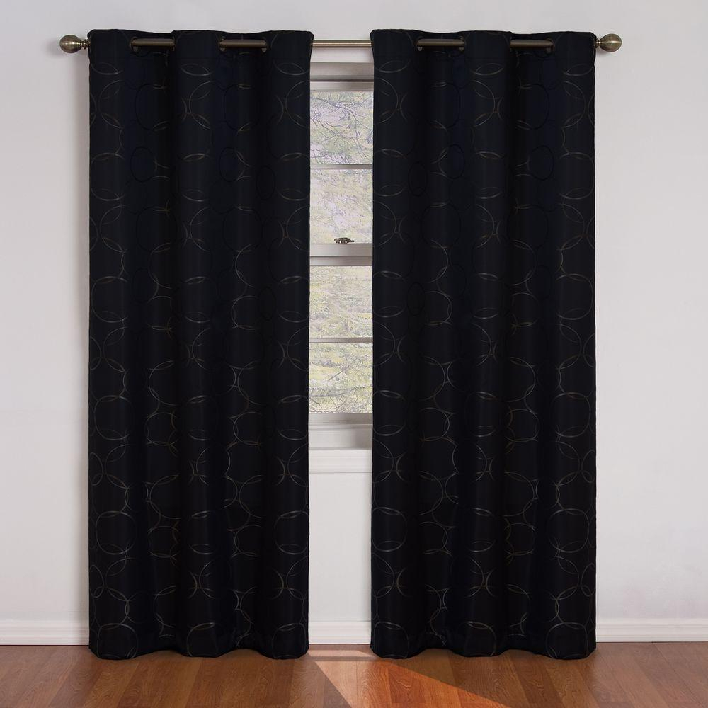 Eclipse Meridian Blackout Window Curtain Panel In Black – 42 In. W X 84 In (View 5 of 20)
